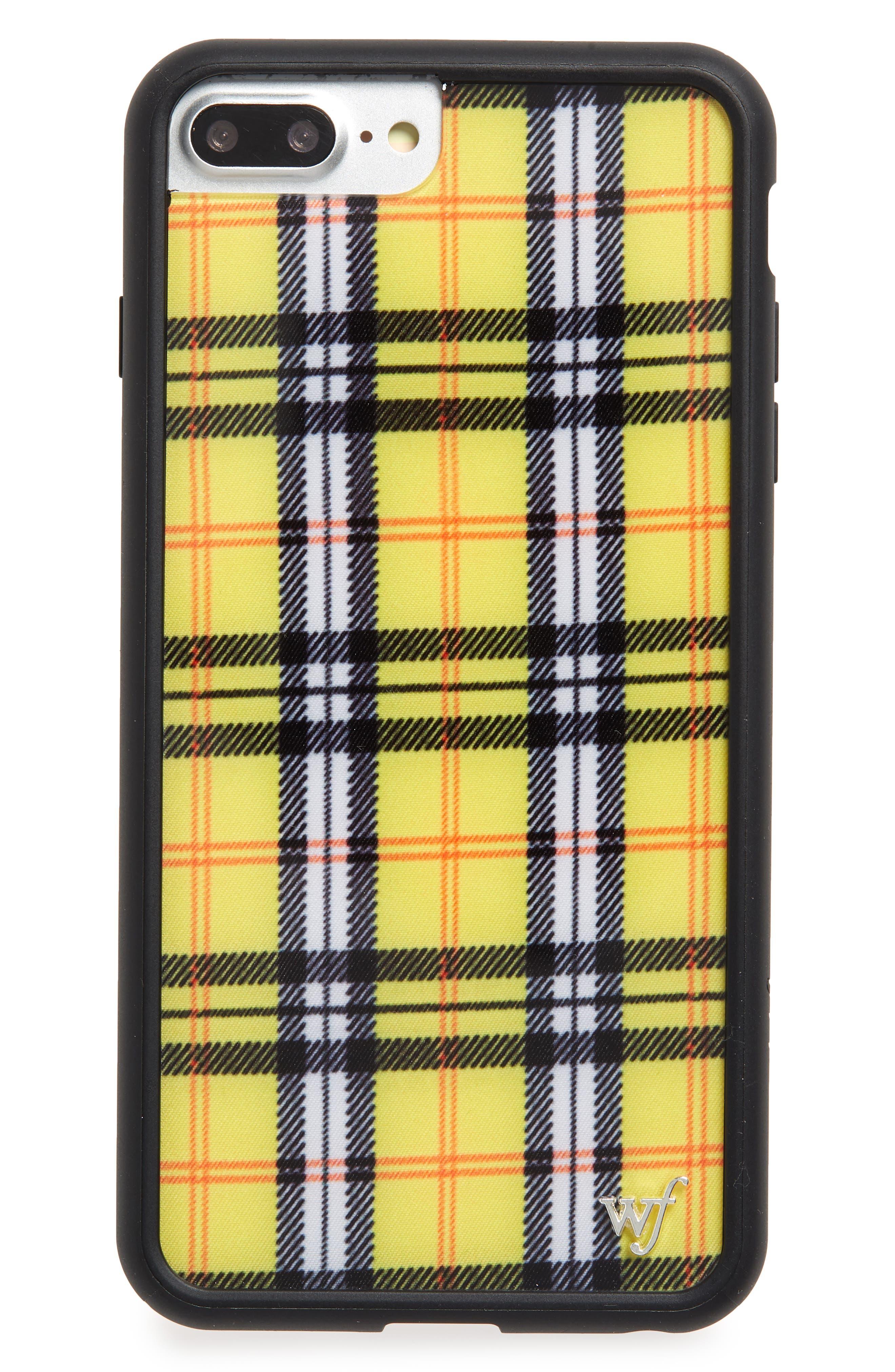 Tartan Plaid iPhone 6/7/8 Plus Case,                             Main thumbnail 1, color,                             YELLOW