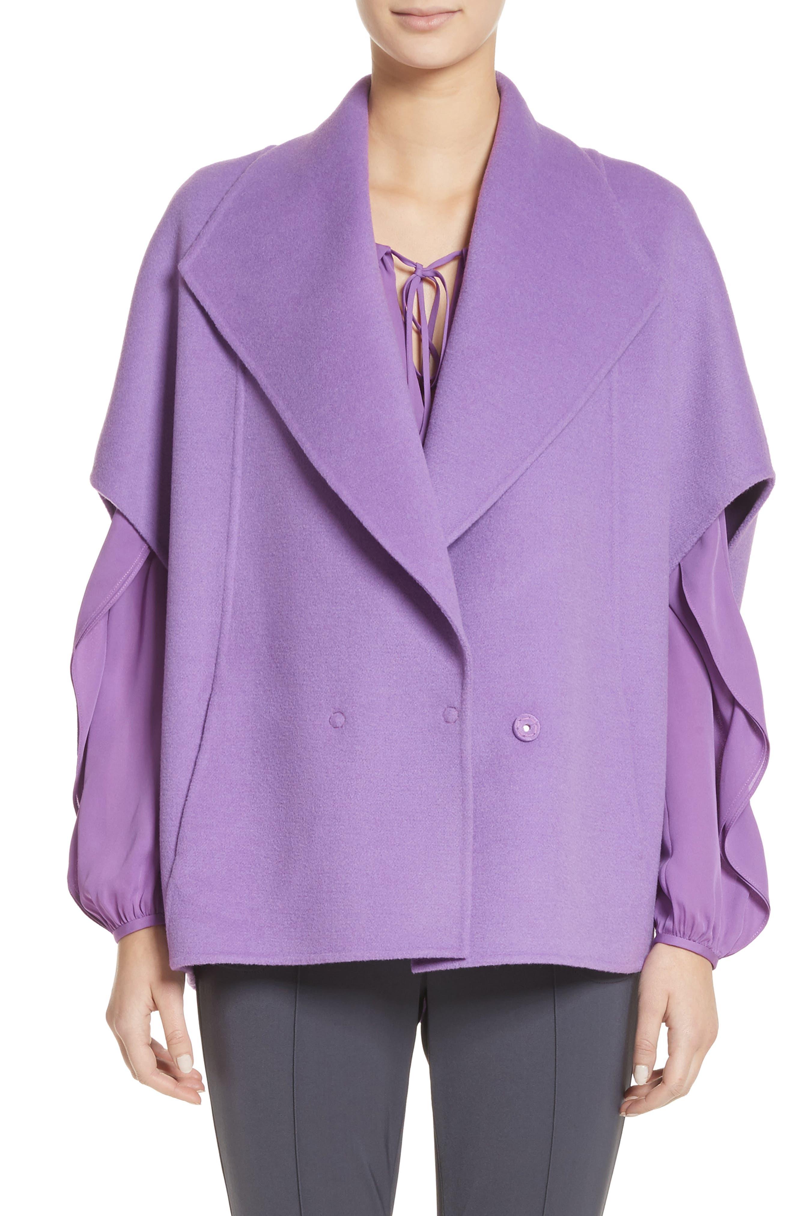 Double Face Wool & Angora Blend Jacket,                             Main thumbnail 1, color,                             550