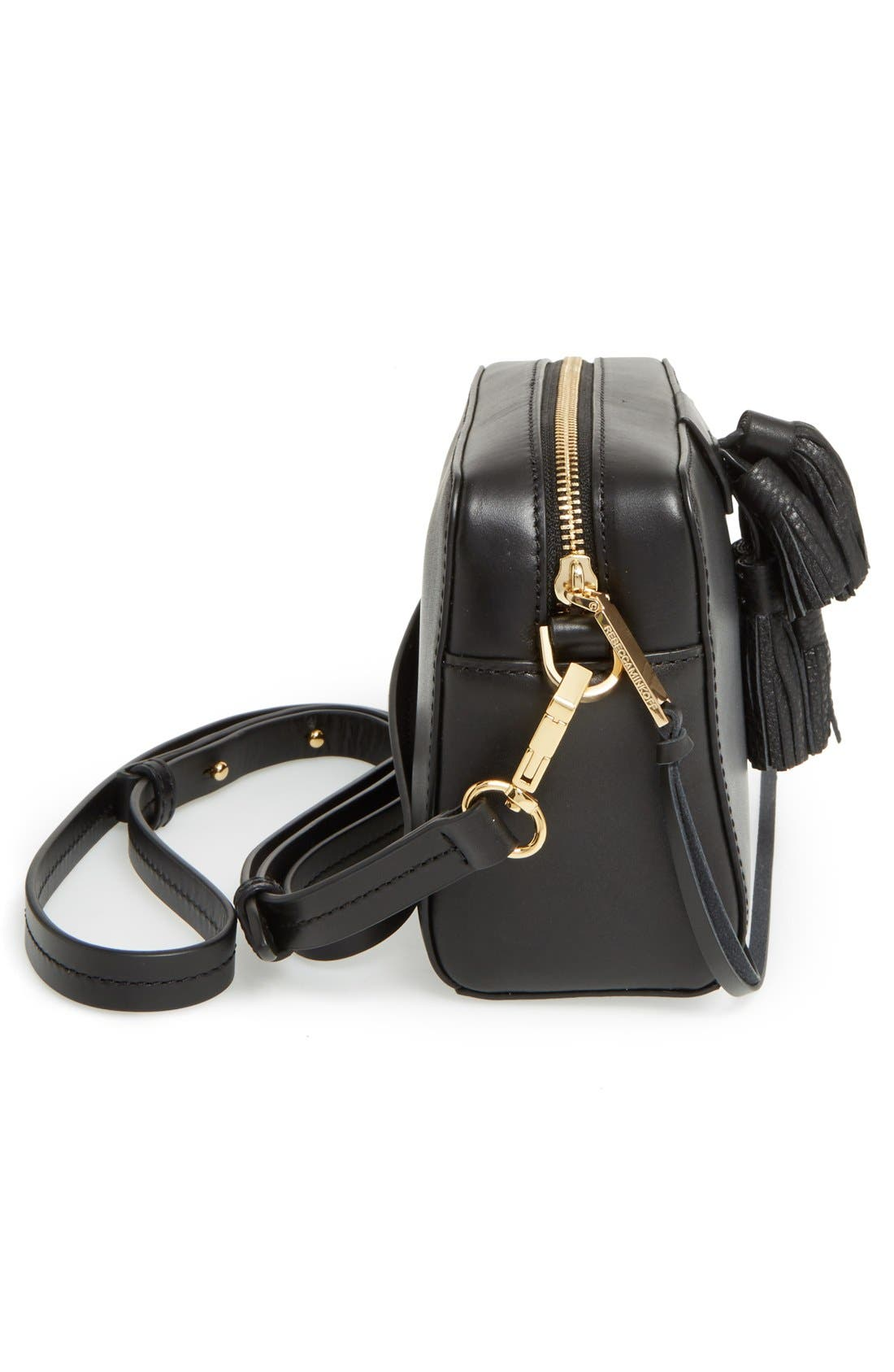 'Mini Sofia' Crossbody Bag,                             Alternate thumbnail 6, color,                             001