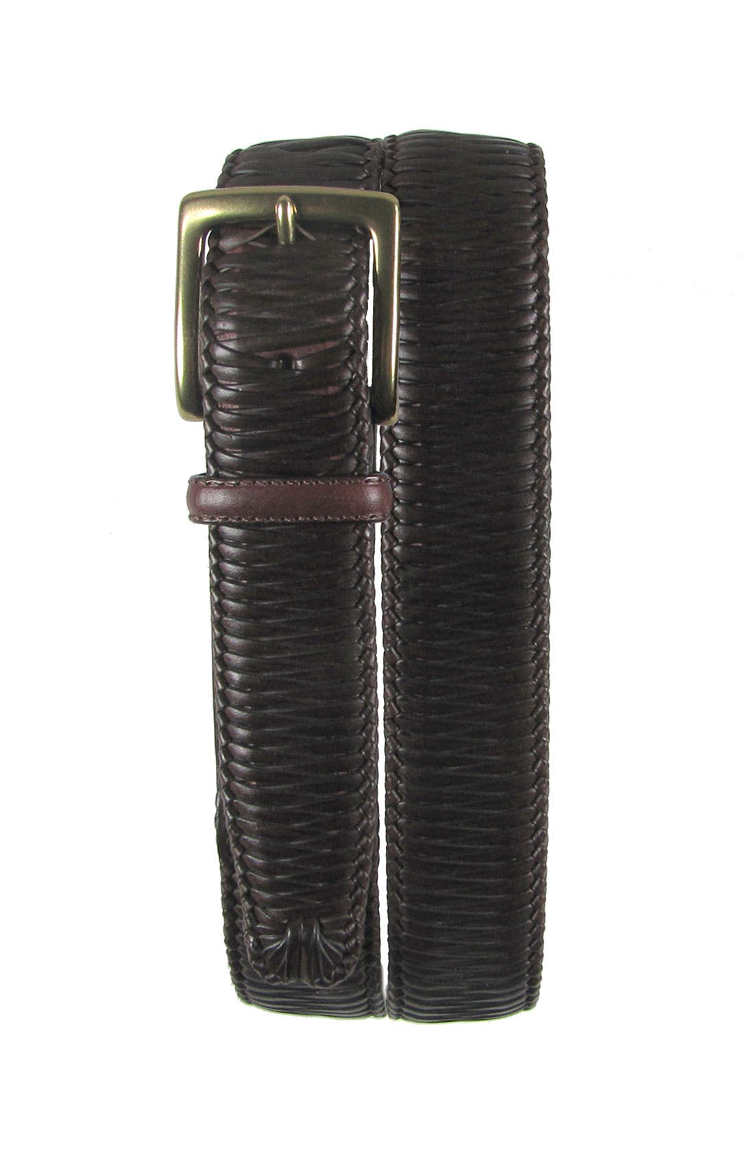 'Largo' Woven Leather Belt,                         Main,                         color, 200
