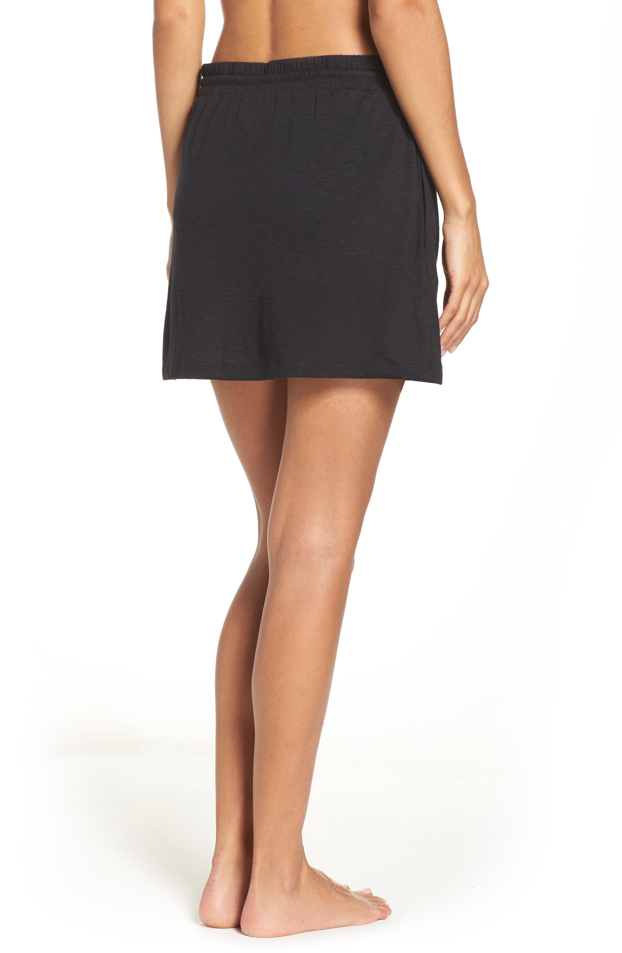 TOMMY BAHAMA,                             Cover-Up Skirt,                             Alternate thumbnail 2, color,                             BLACK