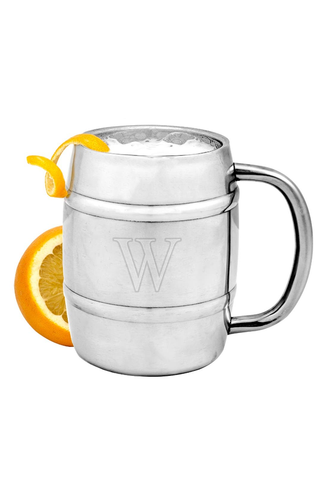 Monogram Stainless Steel Keg Mug,                             Alternate thumbnail 2, color,                             040