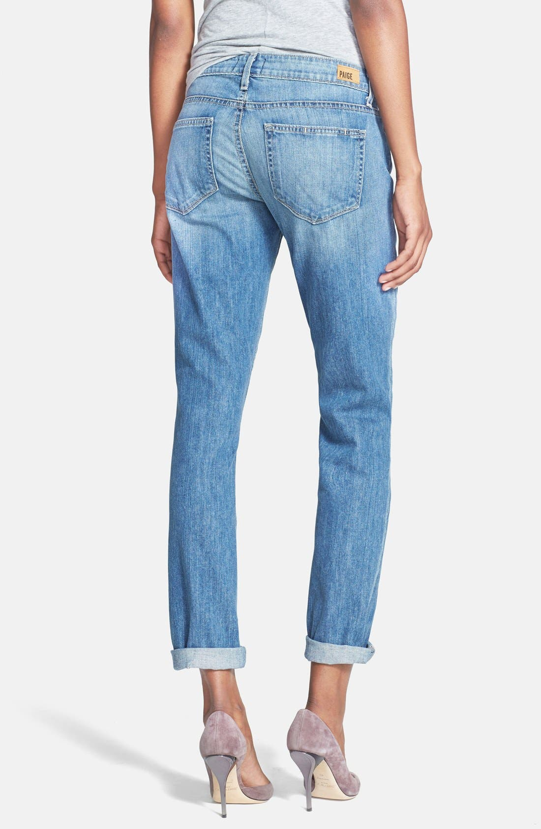 Denim 'Jimmy Jimmy' Boyfriend Skinny Jeans,                             Alternate thumbnail 3, color,                             450