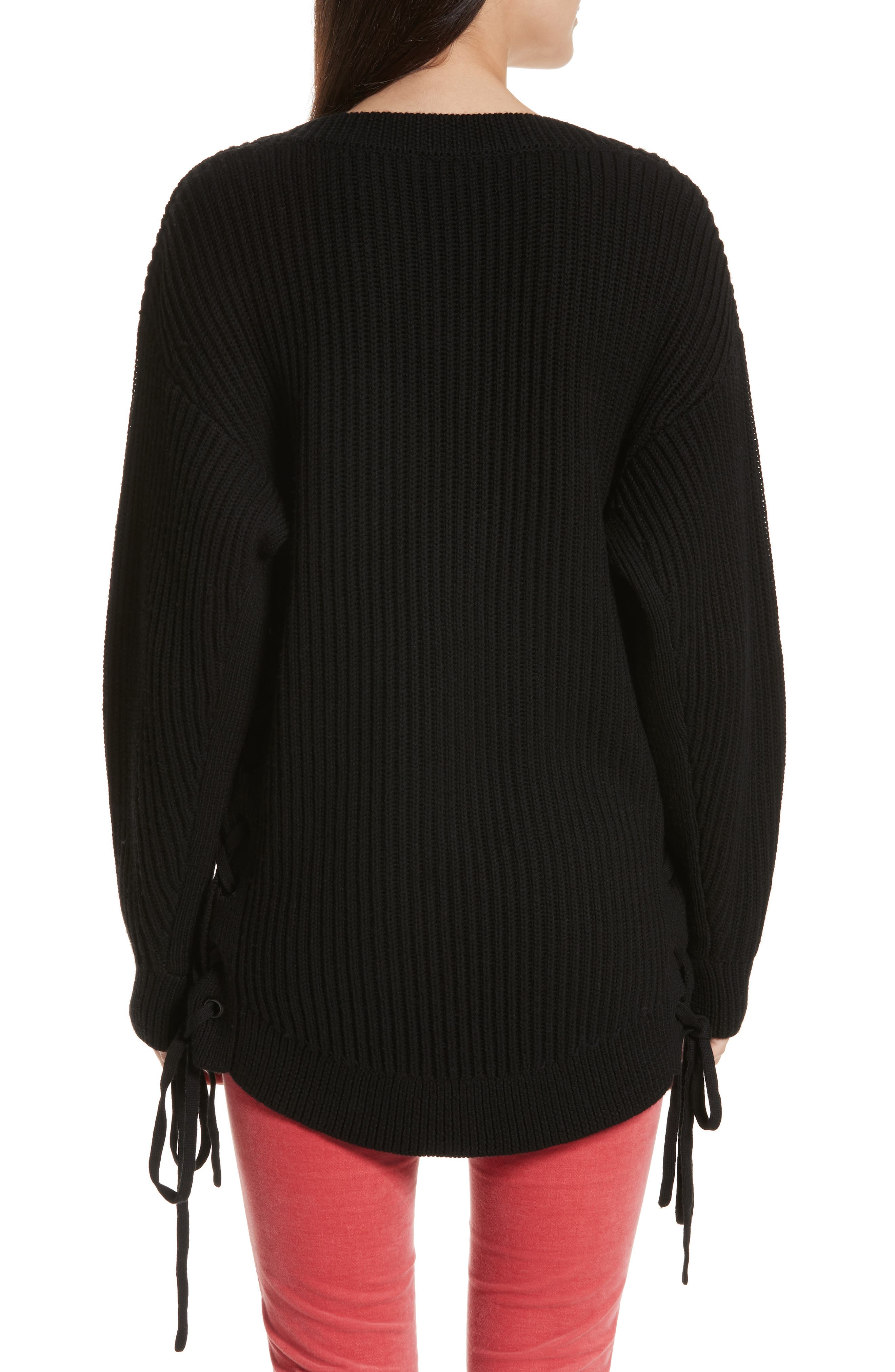 Ivy Side Tie Sweater,                             Alternate thumbnail 2, color,                             001