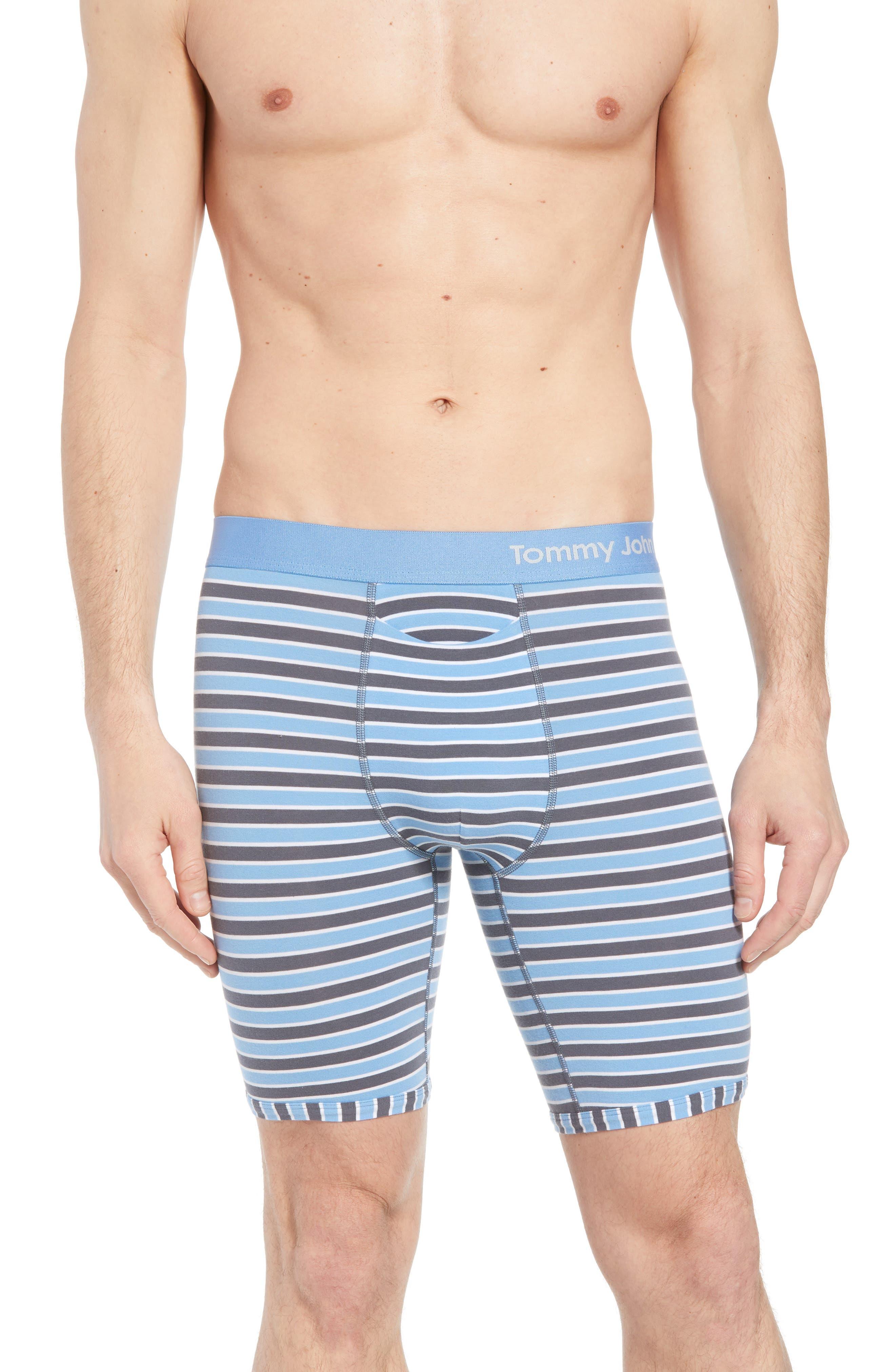 Team Stripe Boxer Briefs,                             Main thumbnail 1, color,                             IRON GREY/ WHITE/ MIRAGE BLUE
