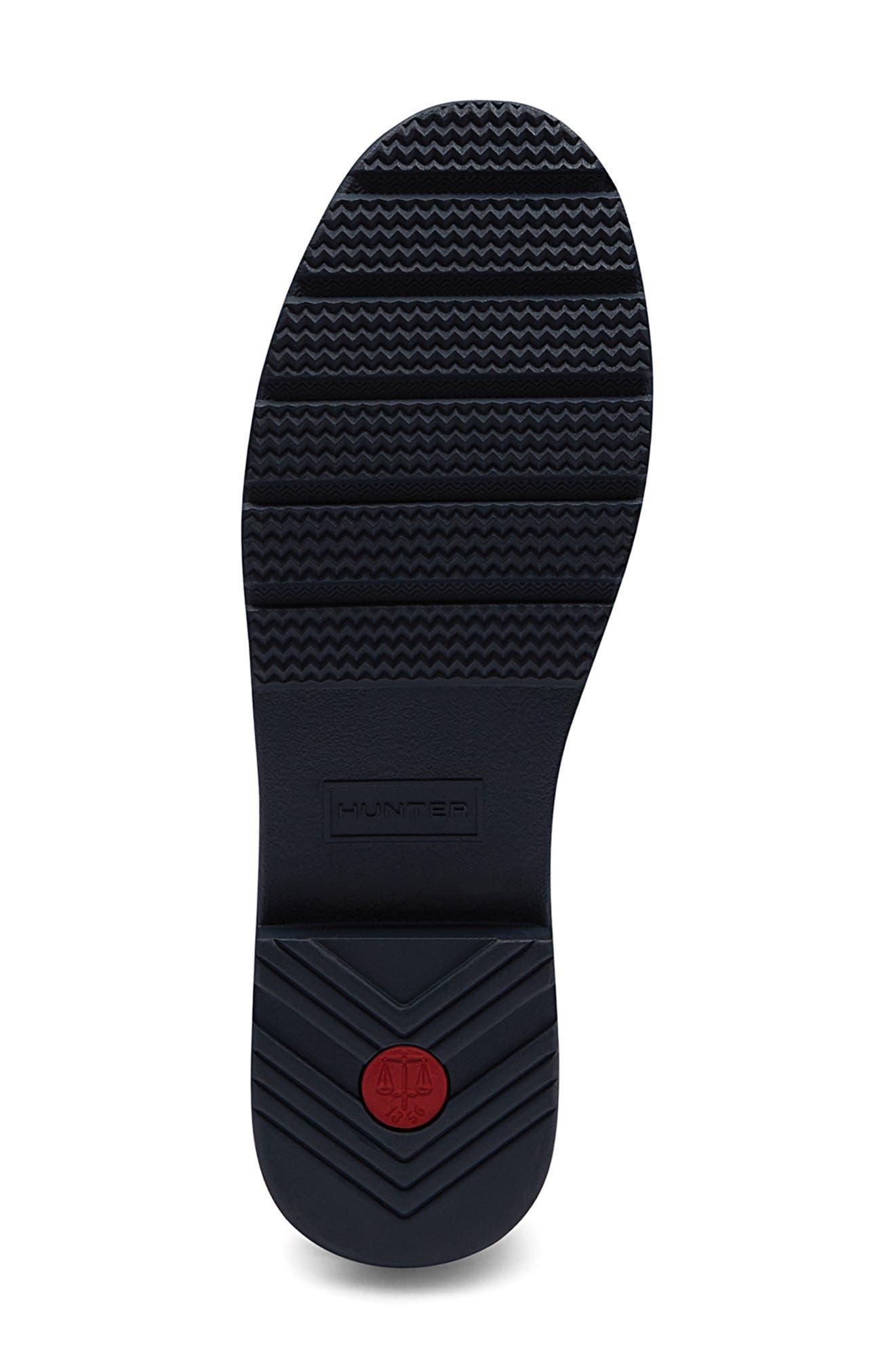 Refined Adjustable Back Knee High Waterproof Rain Boot,                             Alternate thumbnail 4, color,                             NAVY