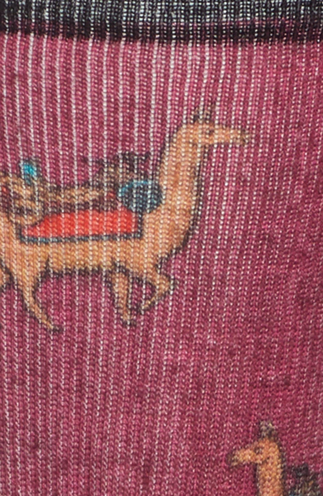 SMARTWOOL,                             Curated Llama Adventures Crew Socks,                             Alternate thumbnail 2, color,                             WHITE MULTI