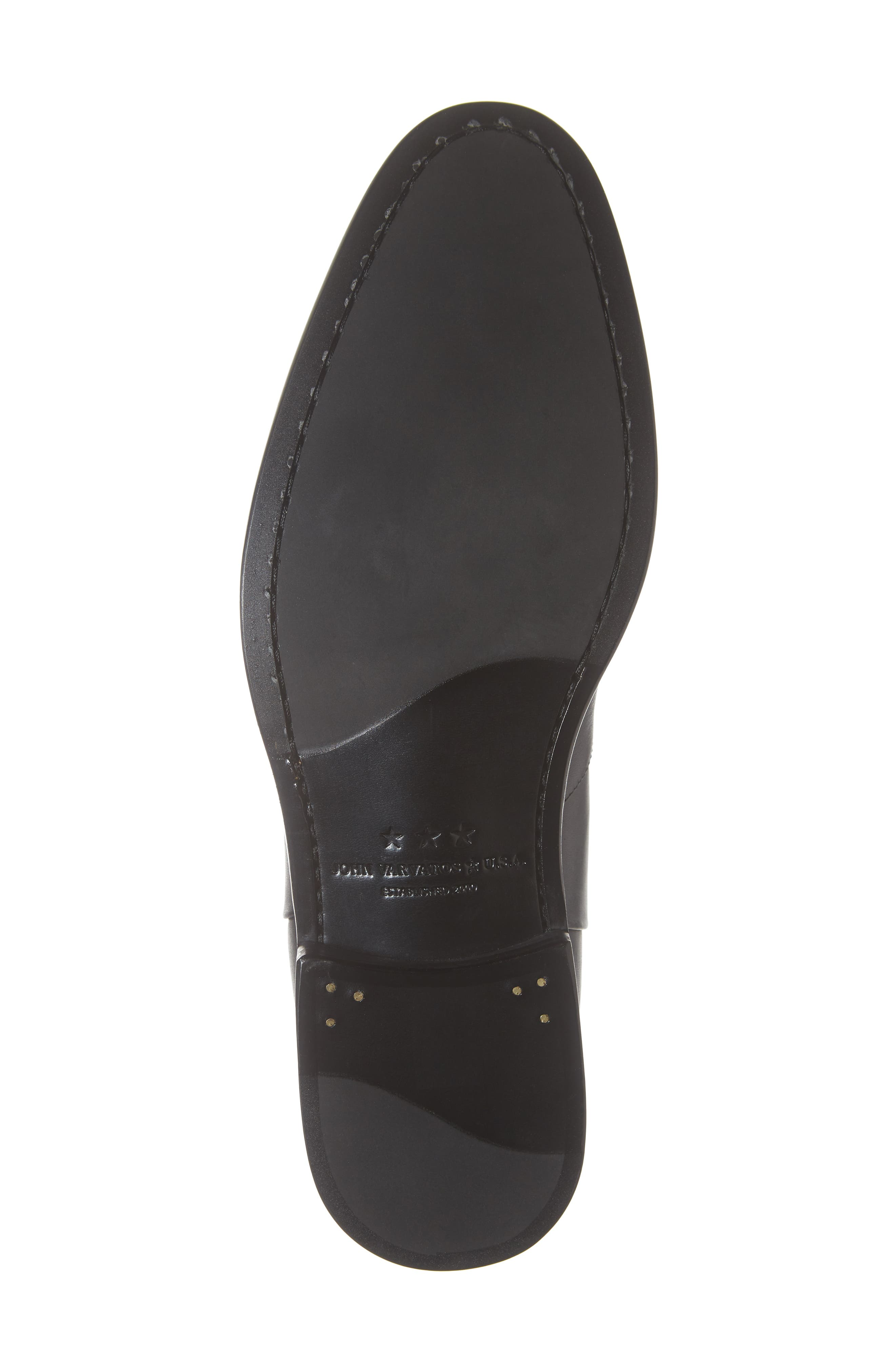 NYC Back Zip Boot,                             Alternate thumbnail 6, color,                             BLACK LEATHER