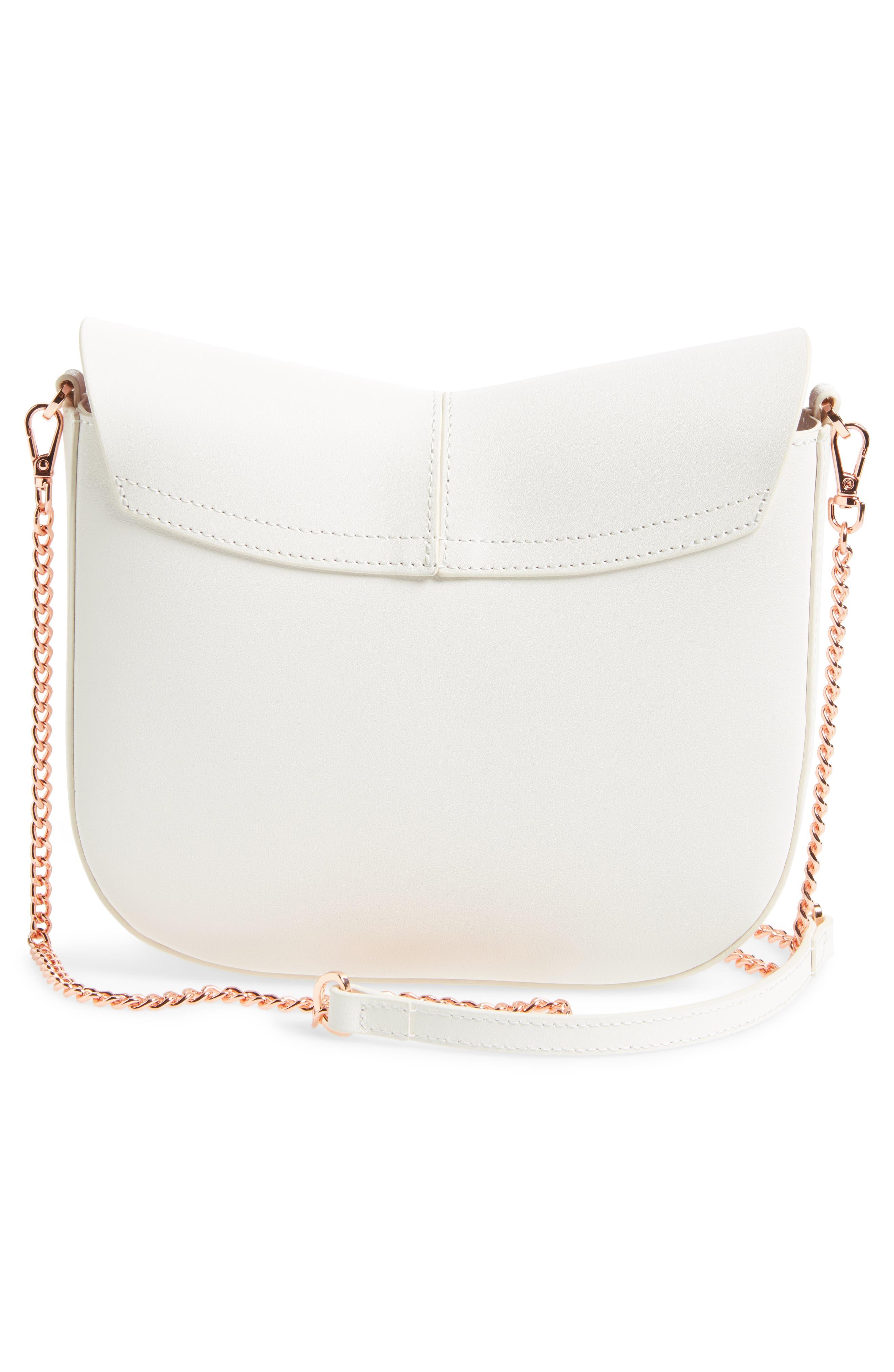Chriiss Cat Stud Leather Crossbody Bag,                             Alternate thumbnail 9, color,