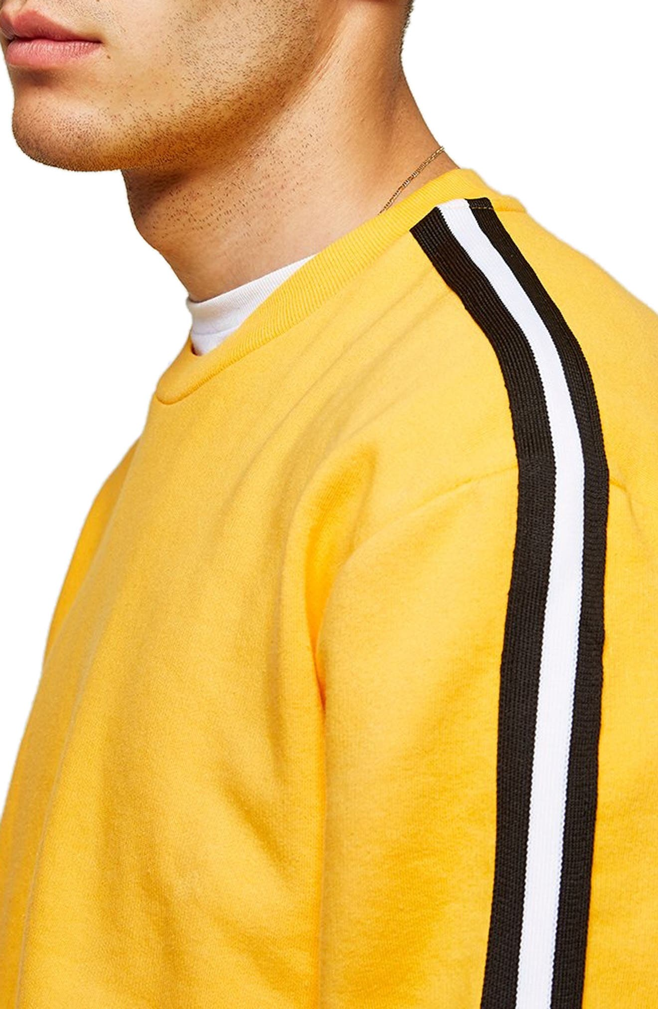Taped Classic Fit Sweatshirt,                             Alternate thumbnail 4, color,                             700