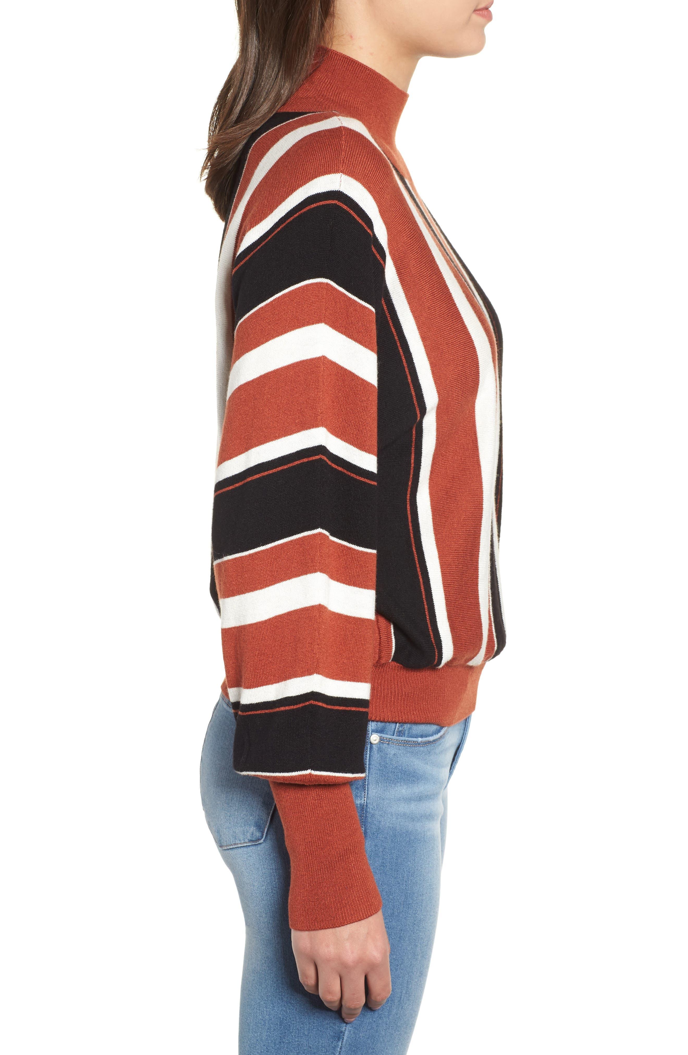 Stripe Dolman Sleeve Sweater,                             Alternate thumbnail 4, color,                             210
