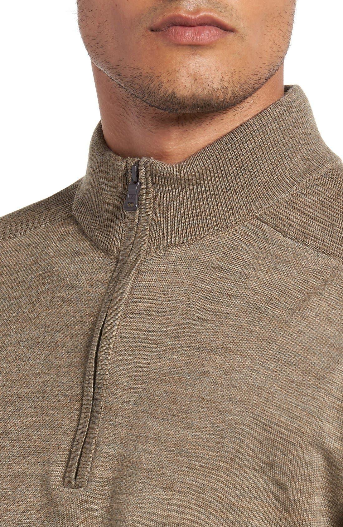 Douglas Quarter Zip Wool Blend Sweater,                             Alternate thumbnail 20, color,
