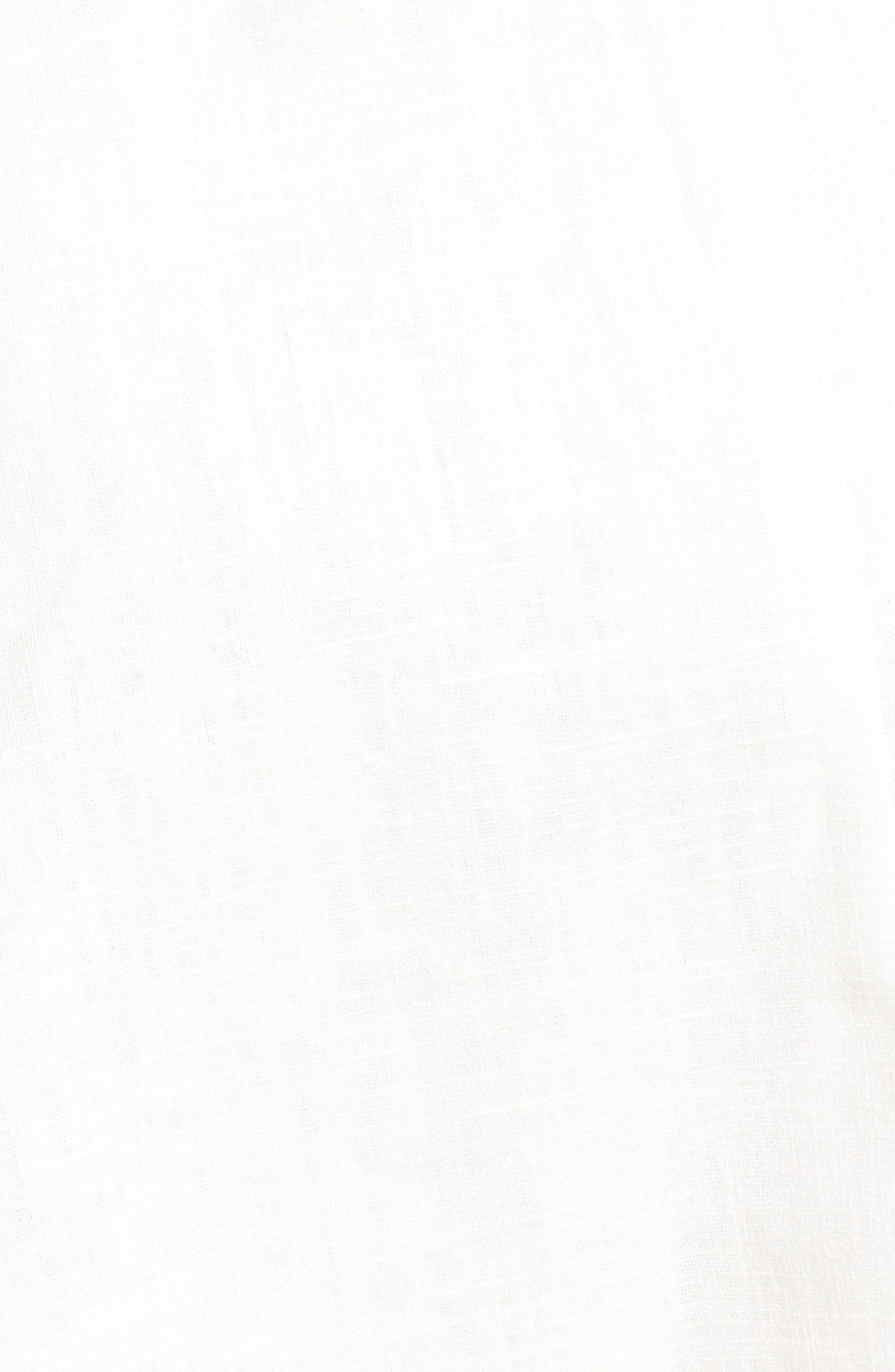 Linen & Cotton Button Front Dress,                             Alternate thumbnail 5, color,                             100