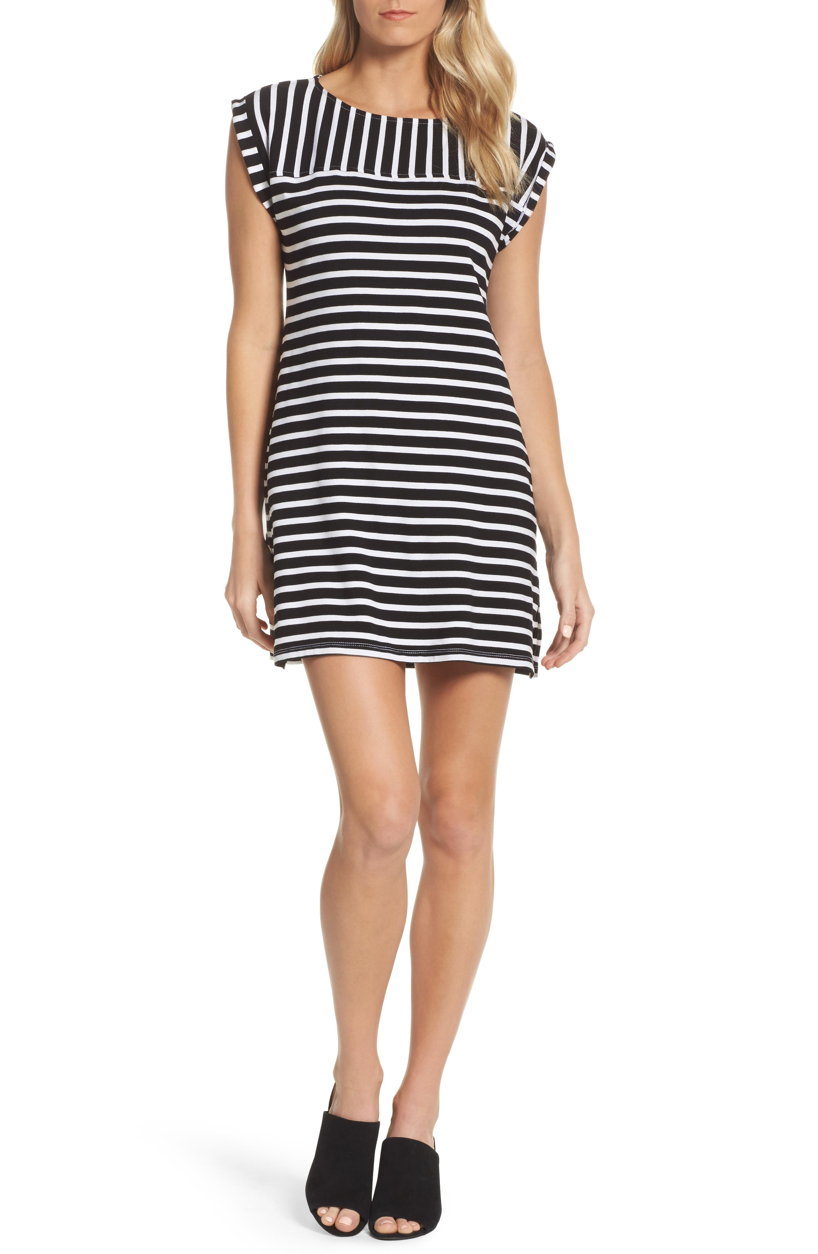 Breton Stripe Cover-Up Dress,                             Main thumbnail 1, color,