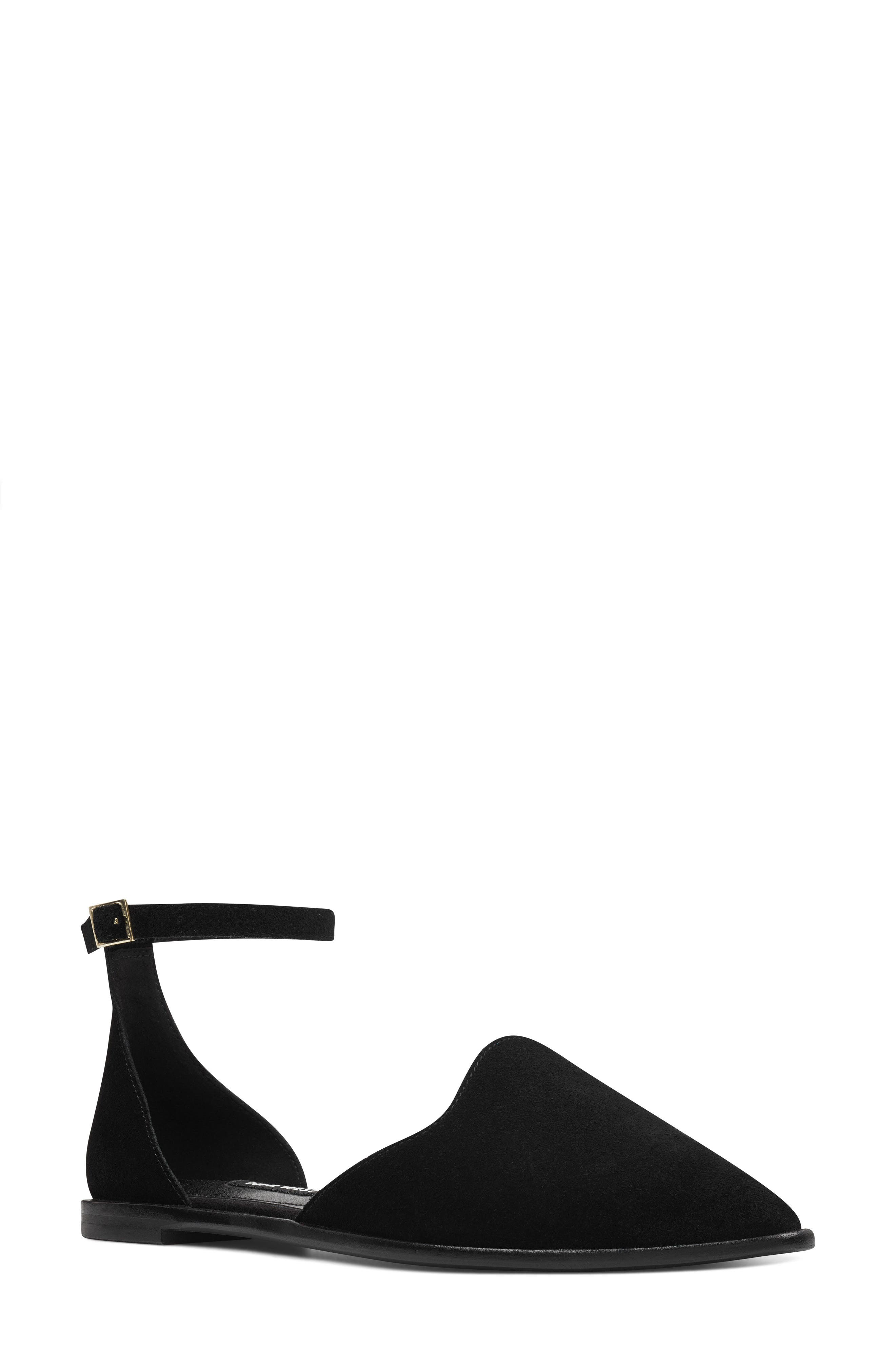 Oriona Ankle Strap Flat,                         Main,                         color, 001