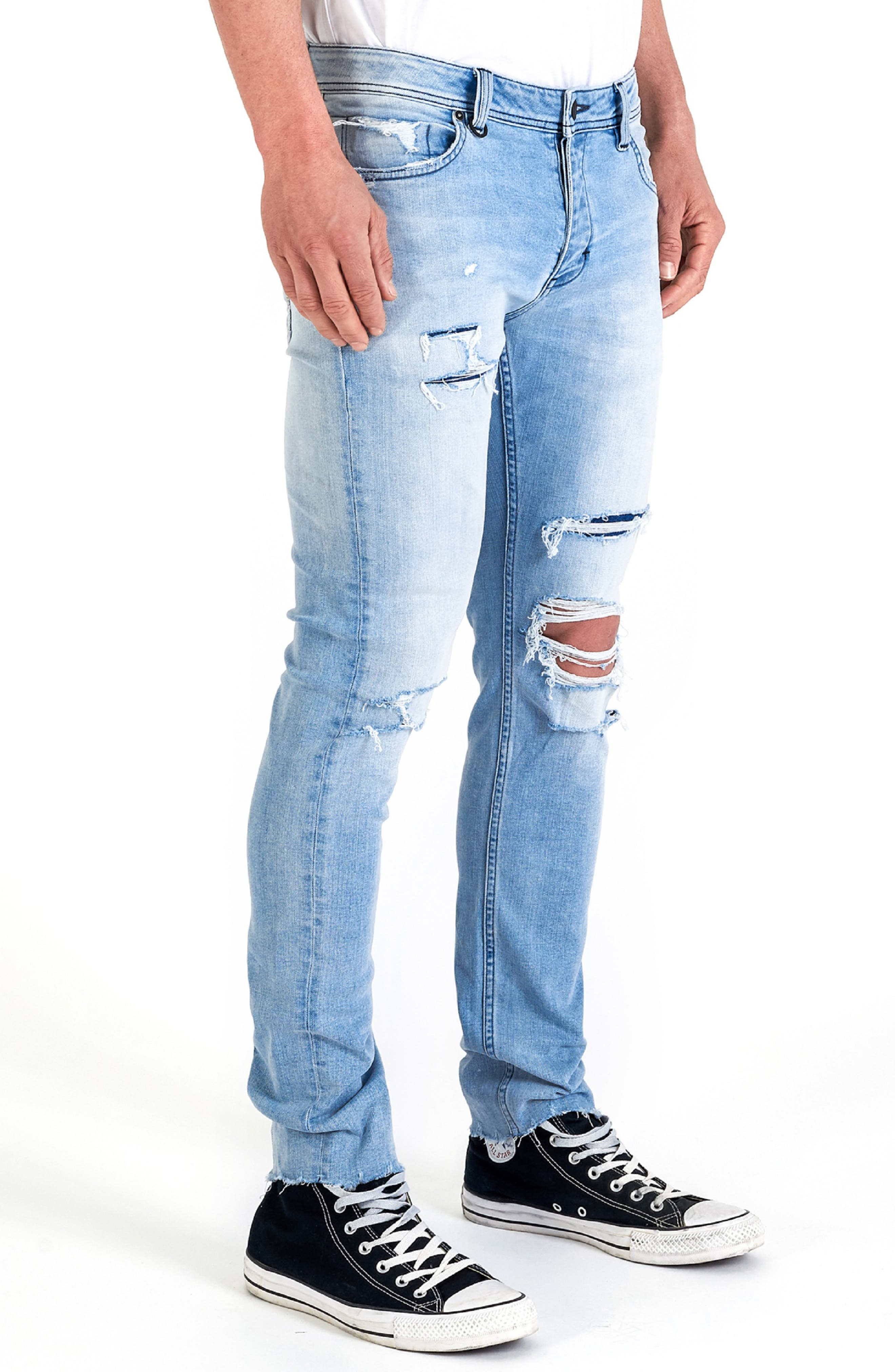 Iggy Skinny Fit Jeans,                             Alternate thumbnail 3, color,                             FRACTURE