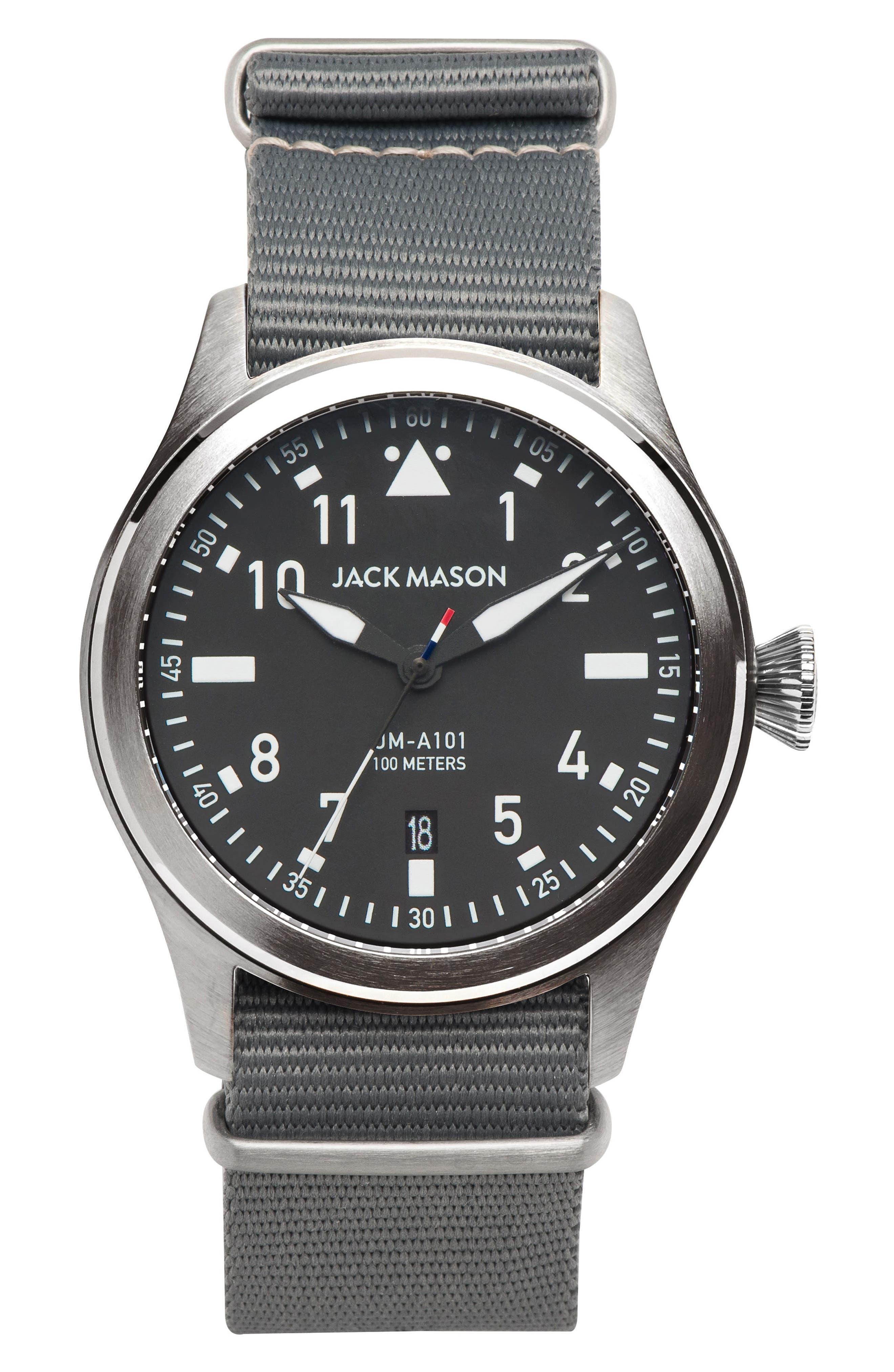 Aviation NATO Strap Watch, 42mm,                             Main thumbnail 1, color,                             020