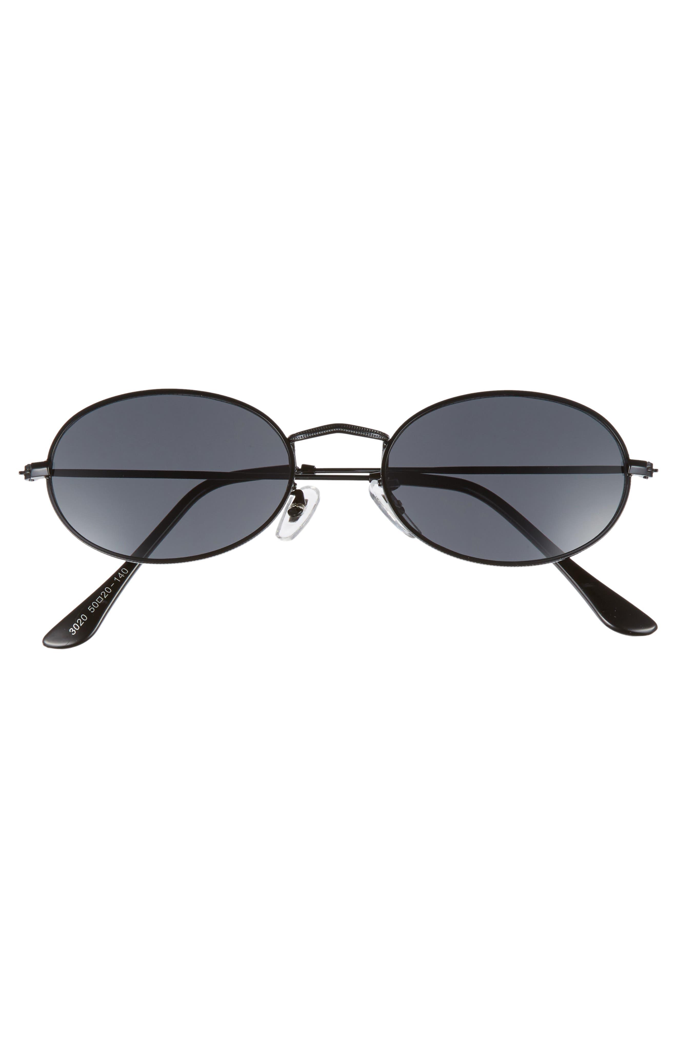 The Kendall 51mm Metal Sunglasses,                             Alternate thumbnail 3, color,                             001