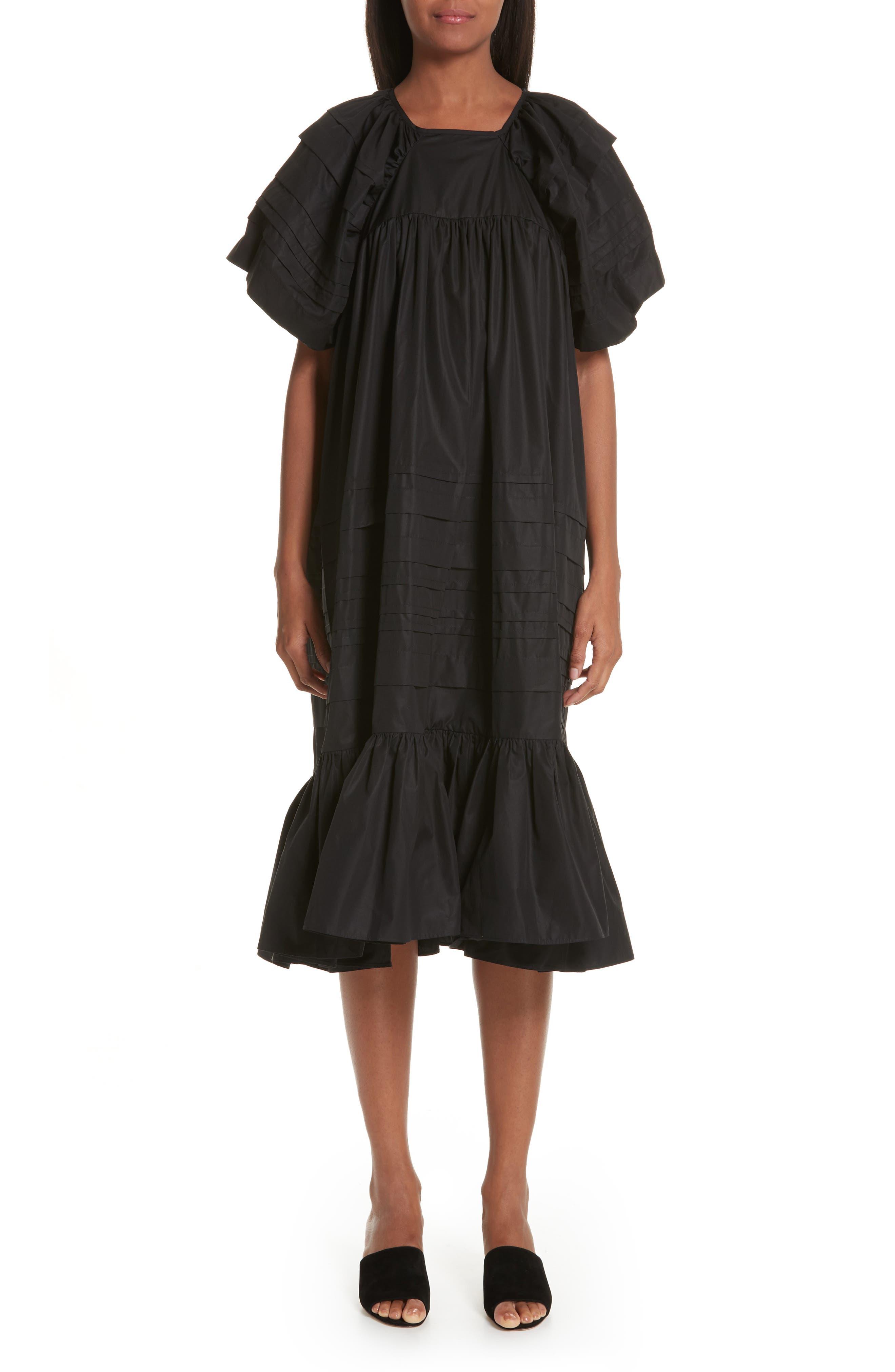 CECILIE BAHNSEN,                             Phoebe Dress,                             Main thumbnail 1, color,                             BLACK