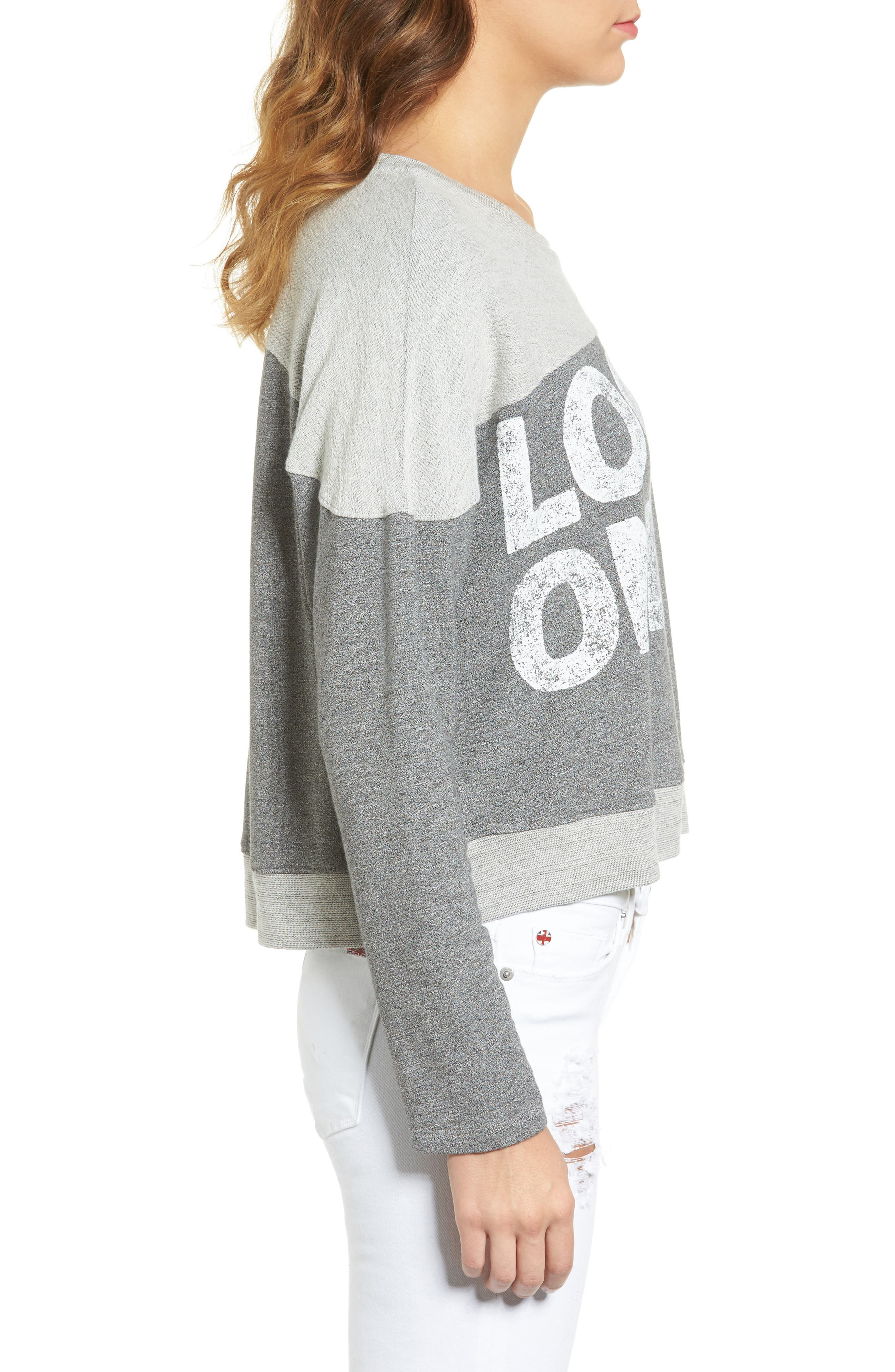 SUNDRY,                             Locals Only Crop Pullover,                             Alternate thumbnail 3, color,                             039