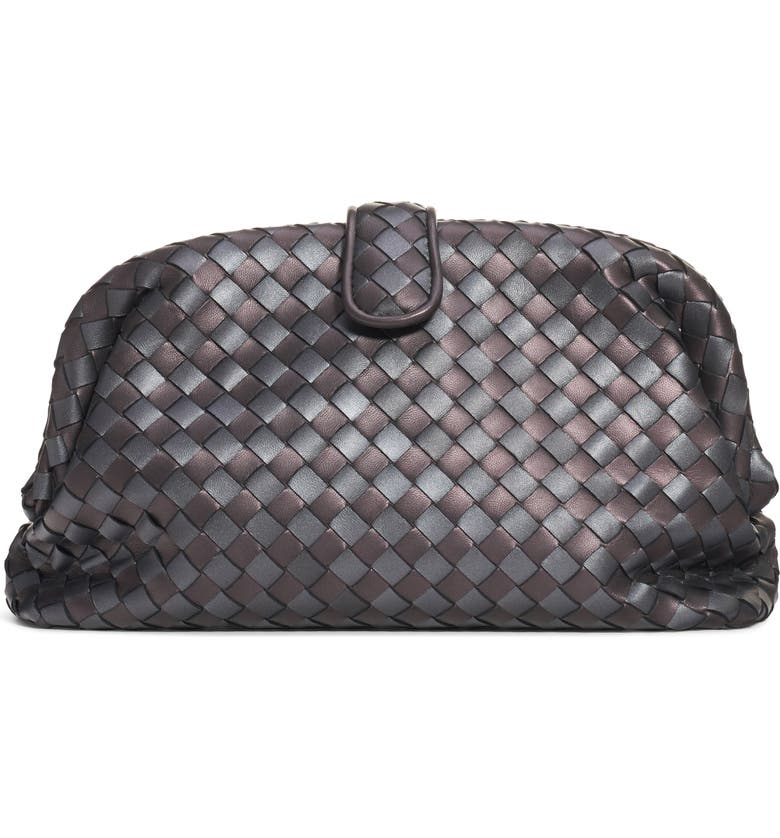 f7a7dd9abe Bottega Veneta The Lauren 1980 Metallic Leather Clutch