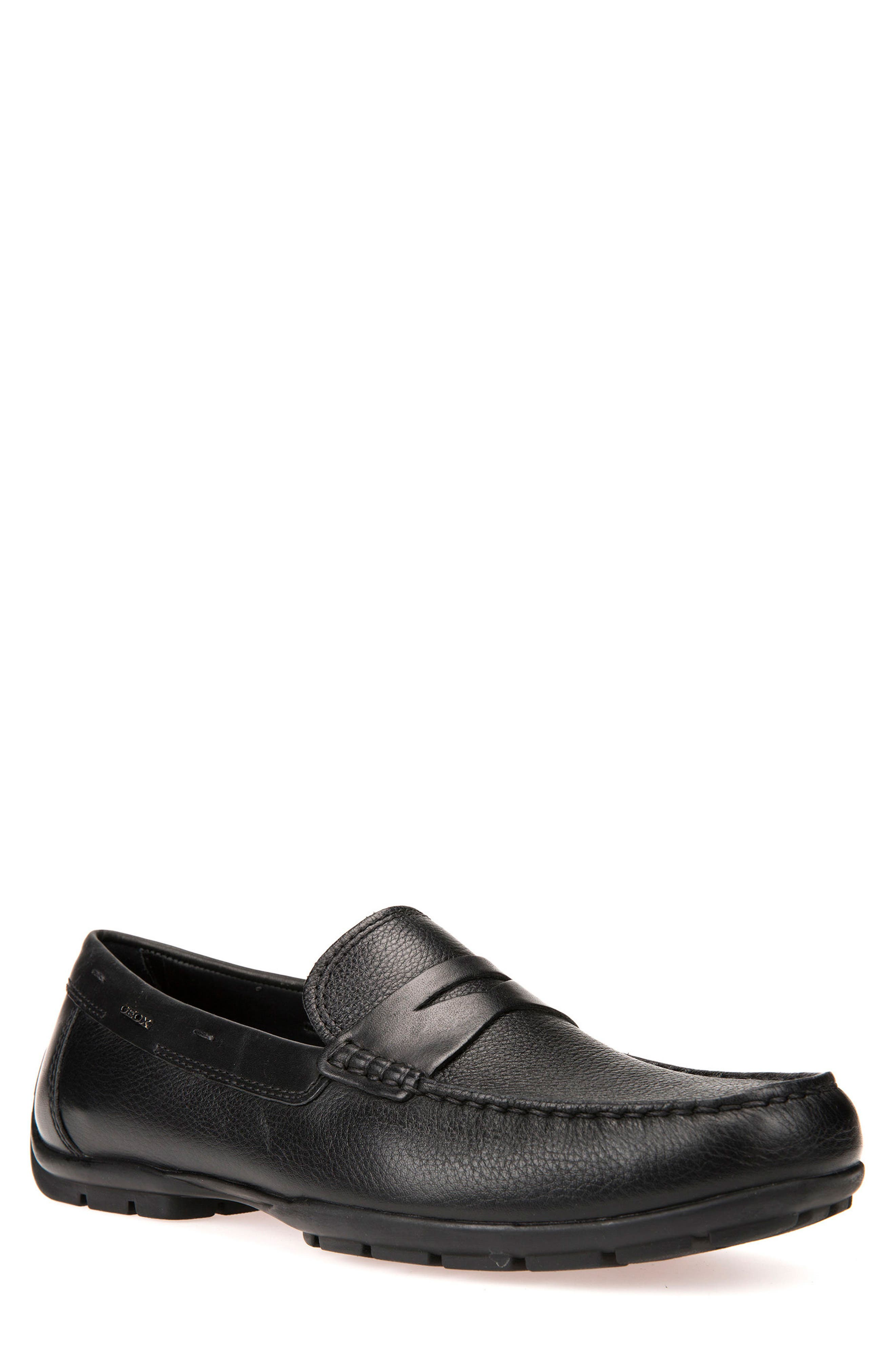 Monet 2Fit 13 Driving Moccasin,                         Main,                         color, BLACK/ BLACK LEATHER