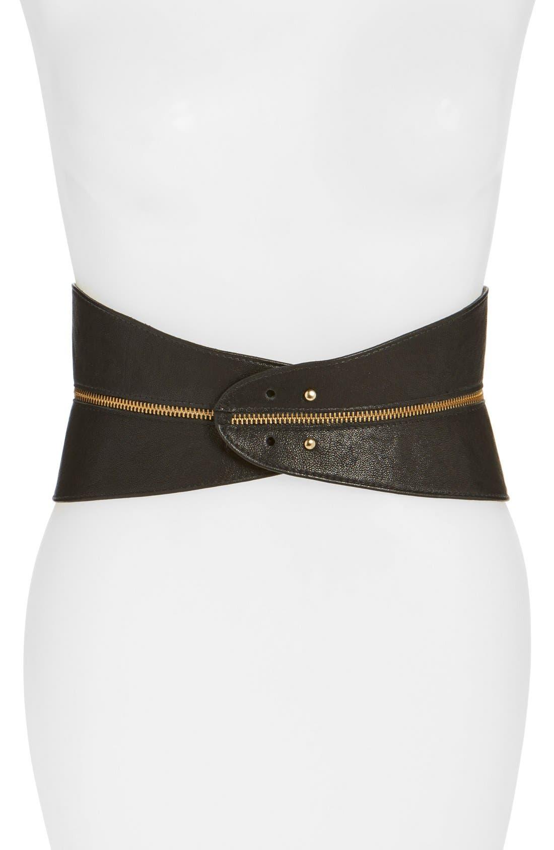 Raina Leather Corset Belt