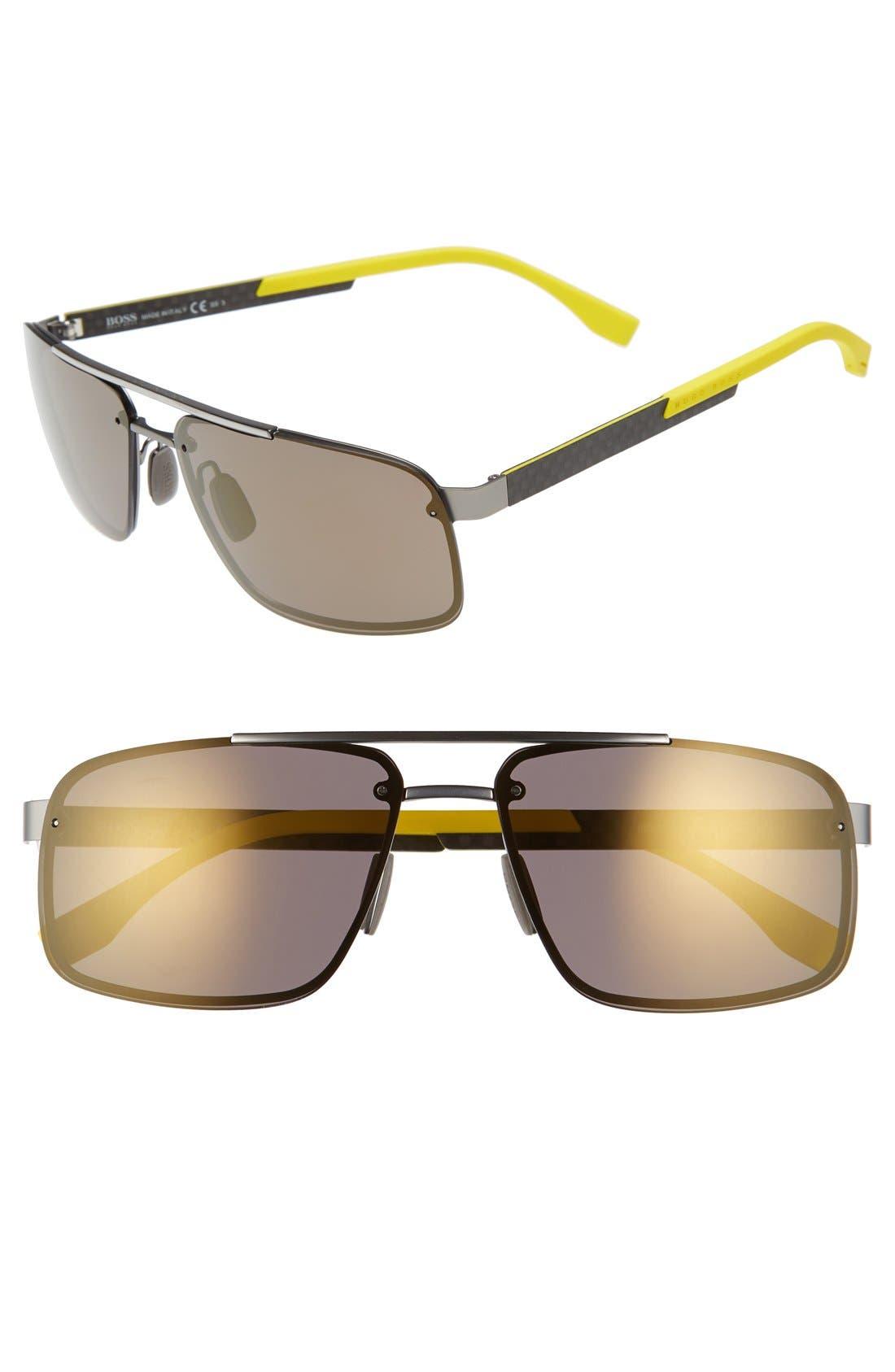 '0773/S' 60mm Sunglasses,                             Main thumbnail 1, color,                             RUST CARBON