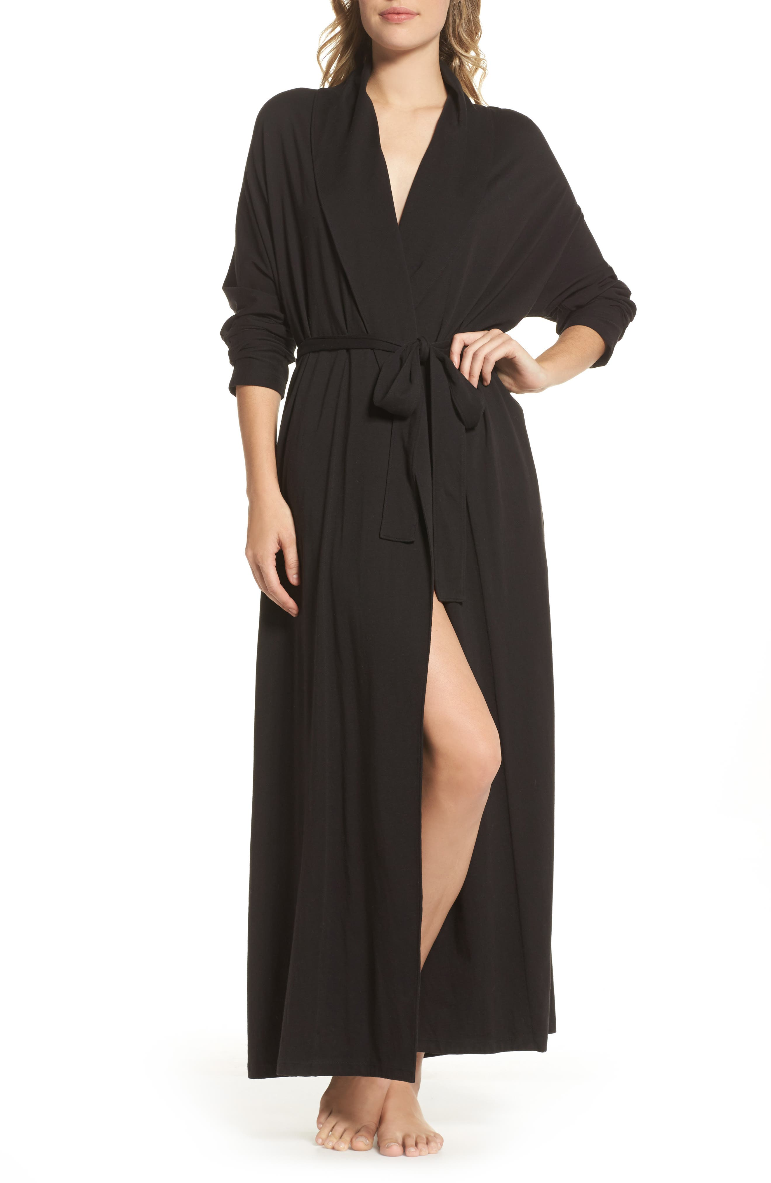 Paola Pima Cotton Robe,                         Main,                         color, 001