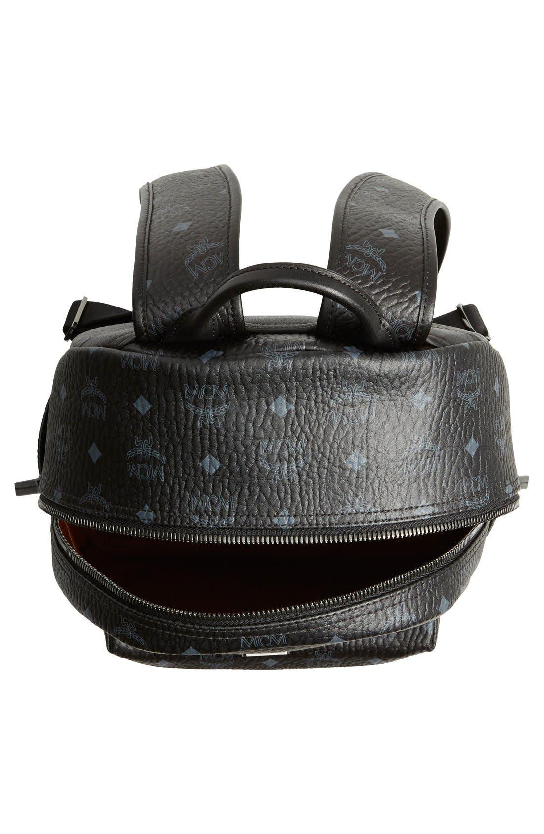 Medium Stark - Visetos Backpack,                             Alternate thumbnail 4, color,                             BLACK