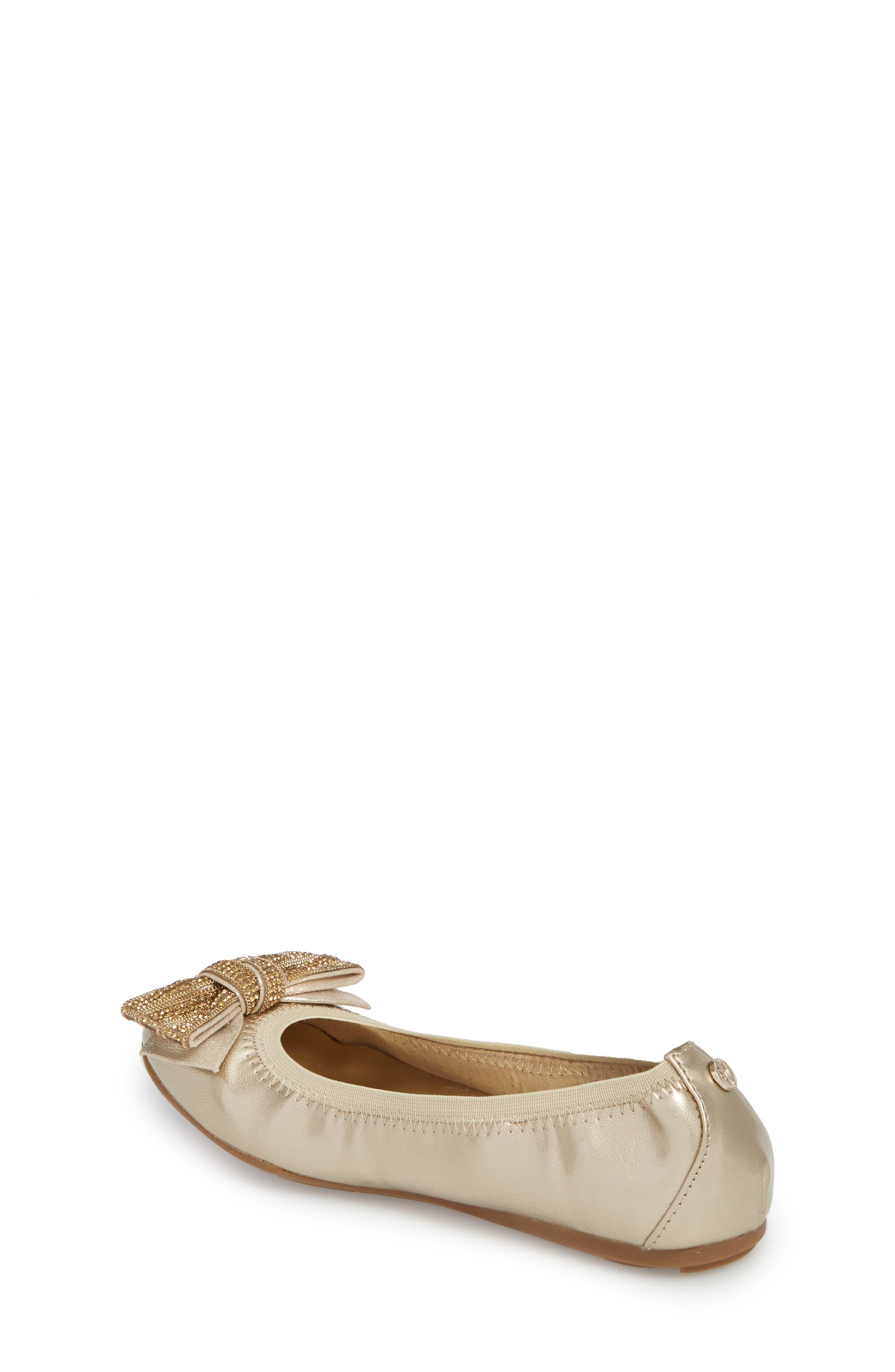 Fannie Embellished Bow Ballet Flat,                             Alternate thumbnail 6, color,