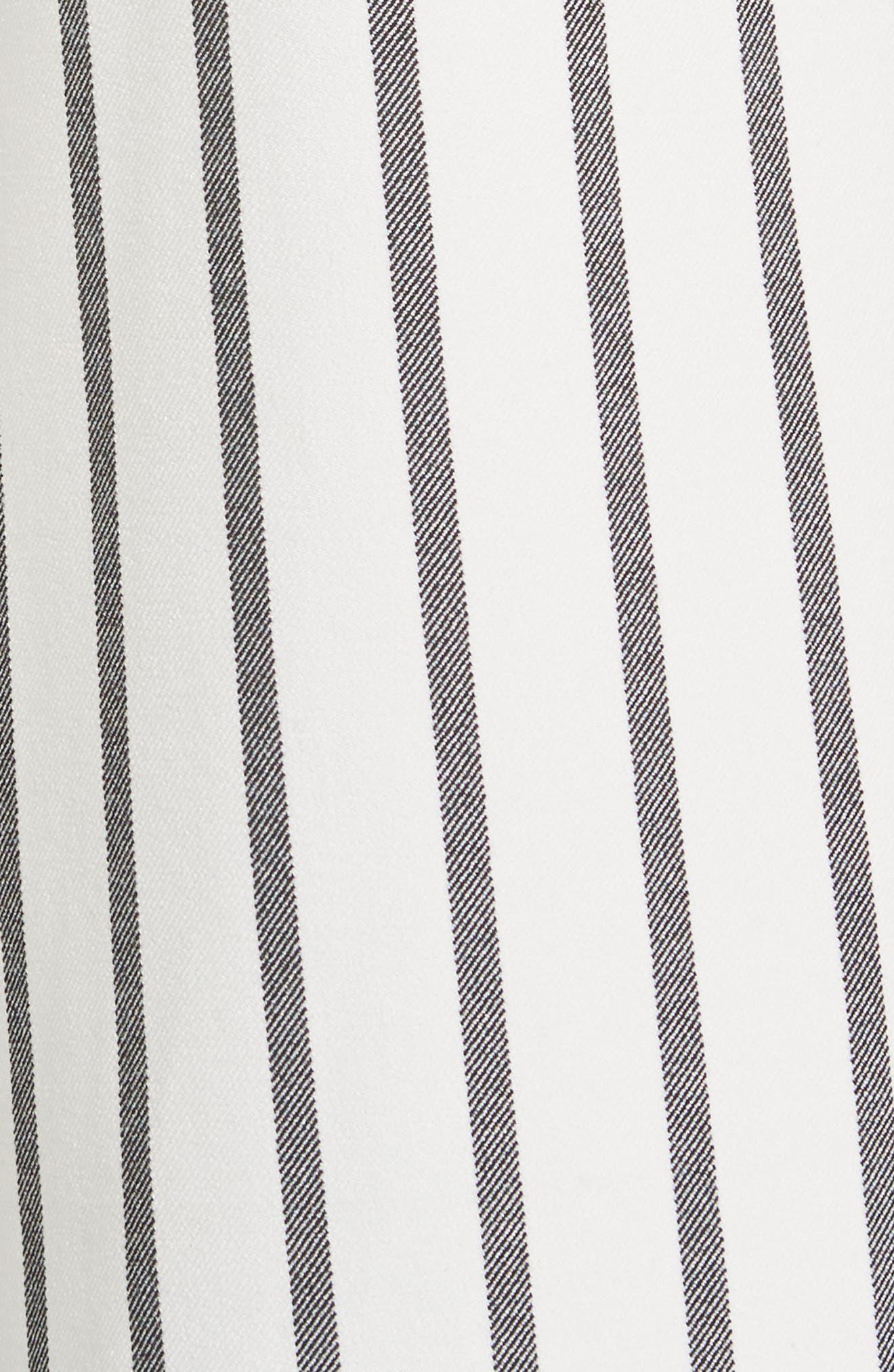 Lucci Stripe Crop Wide Leg Pants,                             Alternate thumbnail 6, color,                             907
