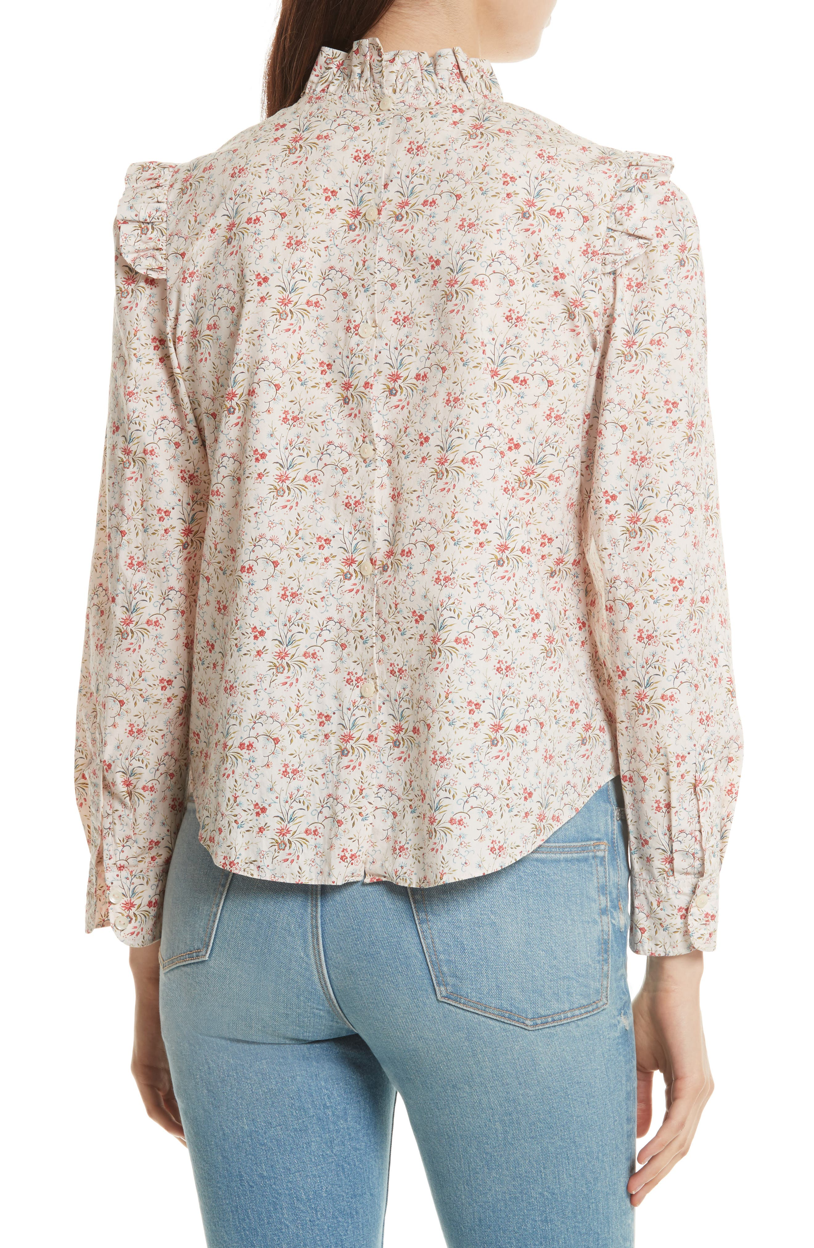 Brittany Floral Blouse,                             Alternate thumbnail 2, color,                             902