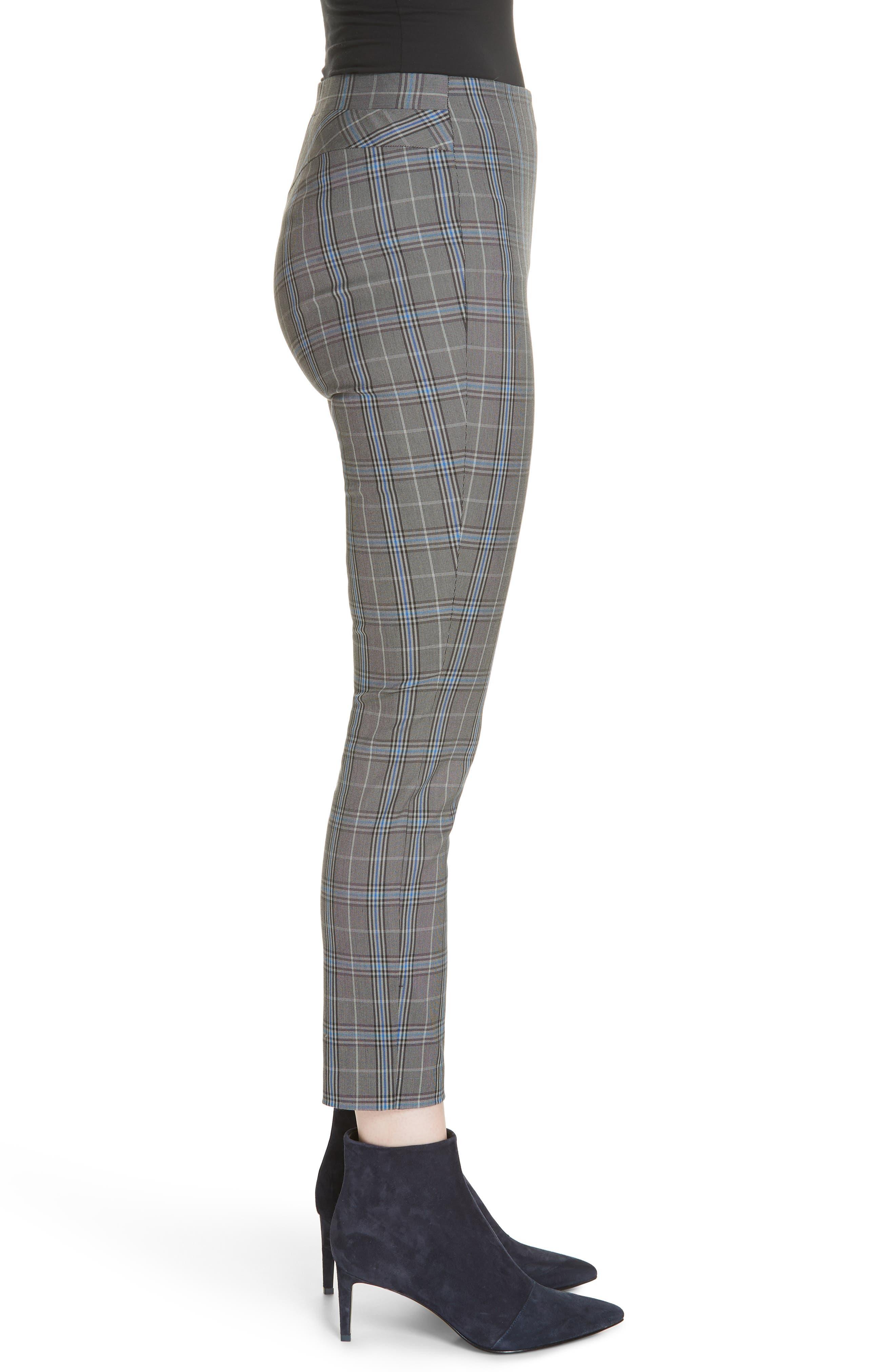 Simone Plaid Crop Pants,                             Alternate thumbnail 3, color,                             GREY MULTI