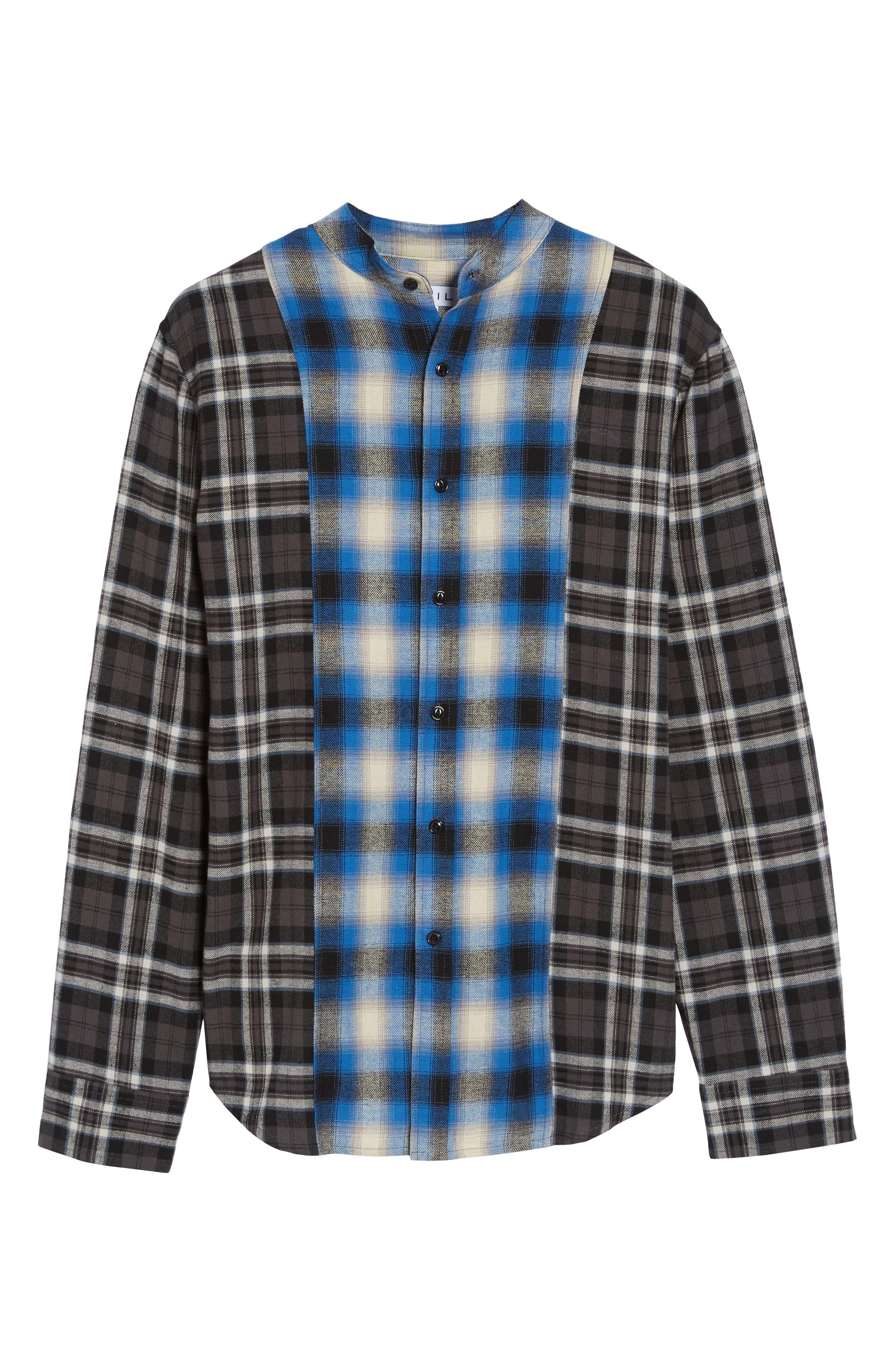 Multi Plaid Woven Shirt,                             Alternate thumbnail 6, color,                             001
