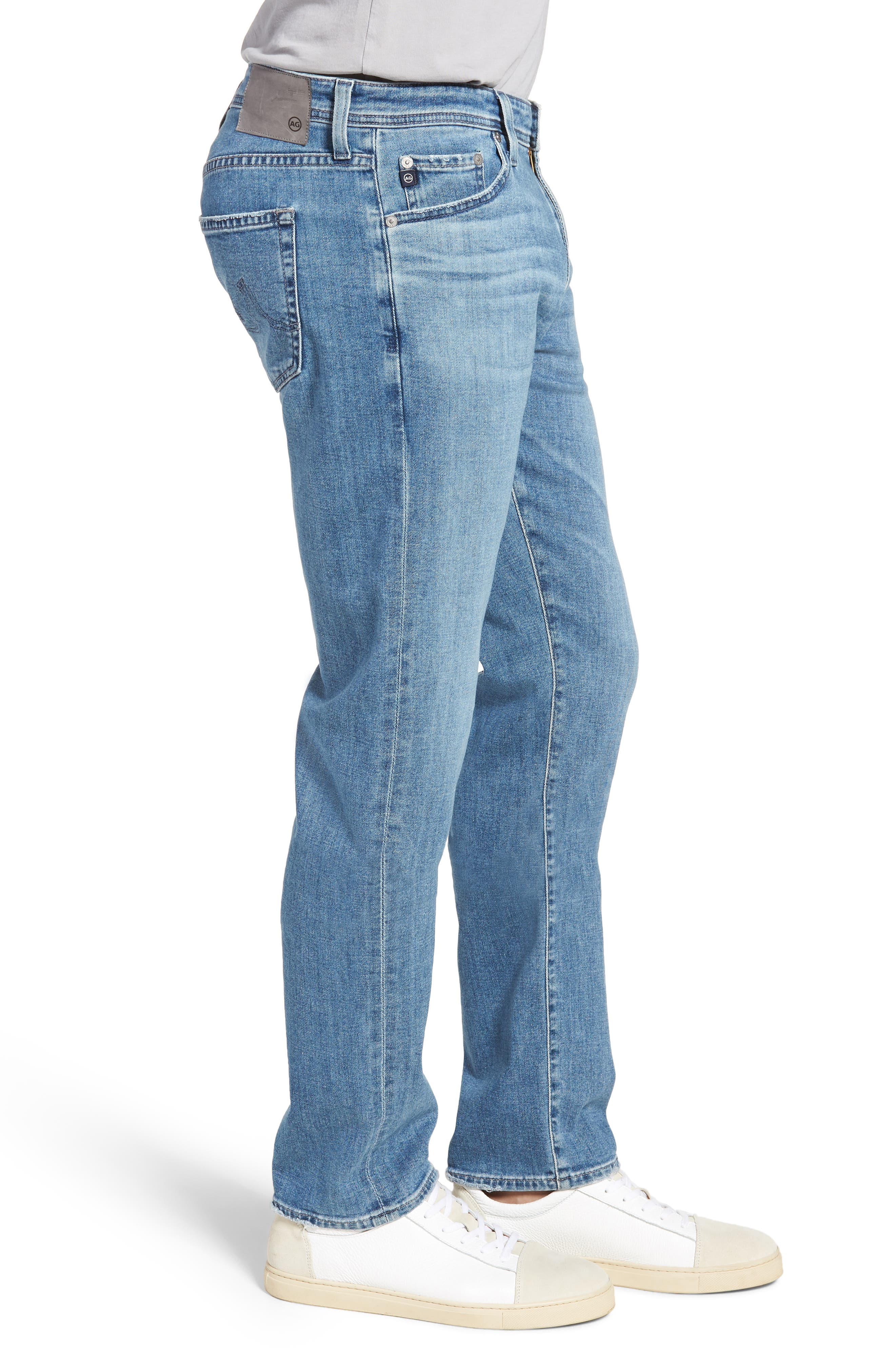 Graduate Slim Straight Leg Jeans,                             Alternate thumbnail 3, color,                             SANDPIPER