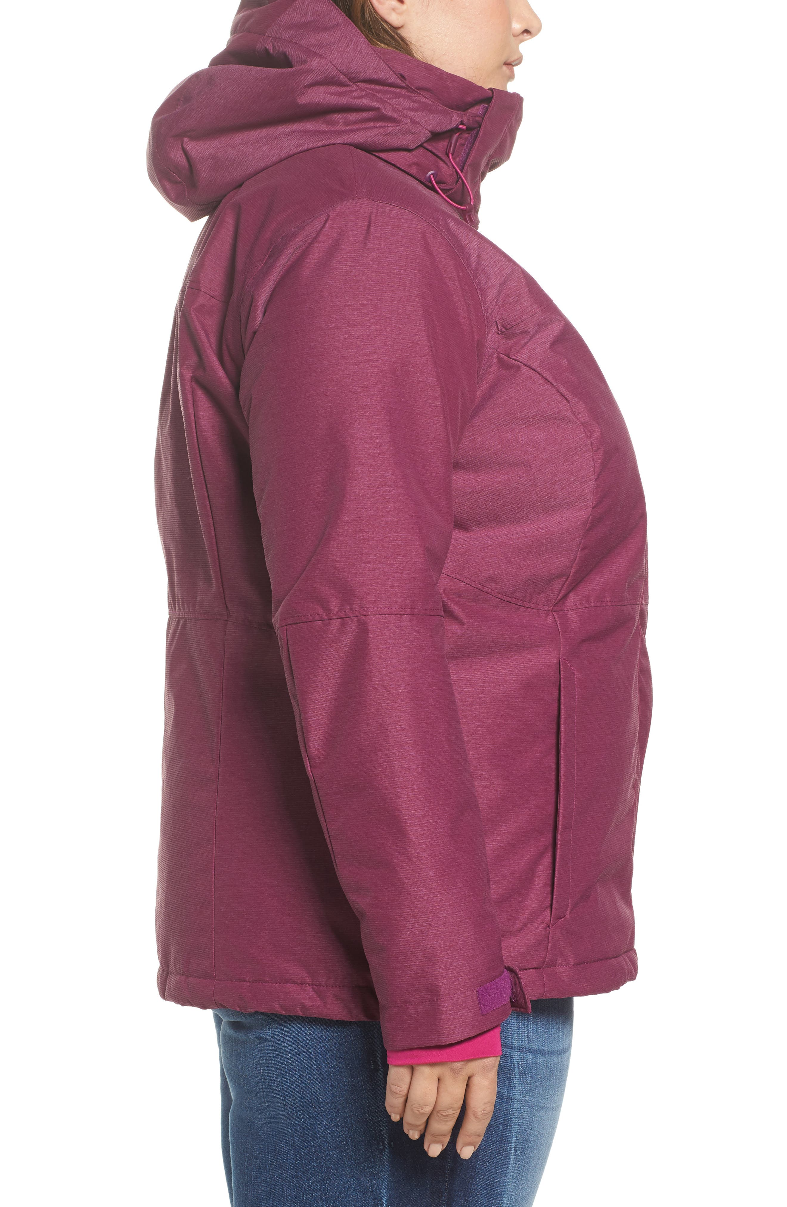 Alpine Action Waterproof Omni-Heat<sup>®</sup> Hooded Jacket,                             Alternate thumbnail 7, color,