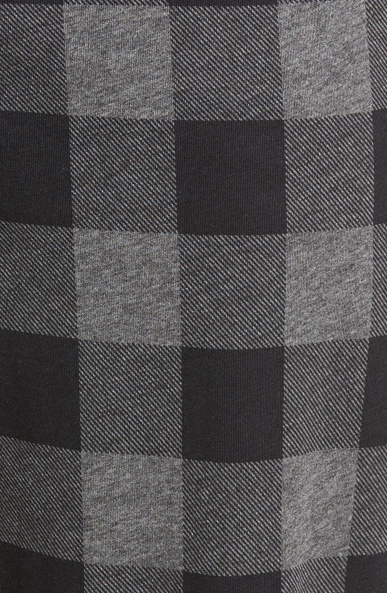 Cotton Lounge Pants,                             Alternate thumbnail 5, color,                             CHARCOAL/ BUFFALO PLAID