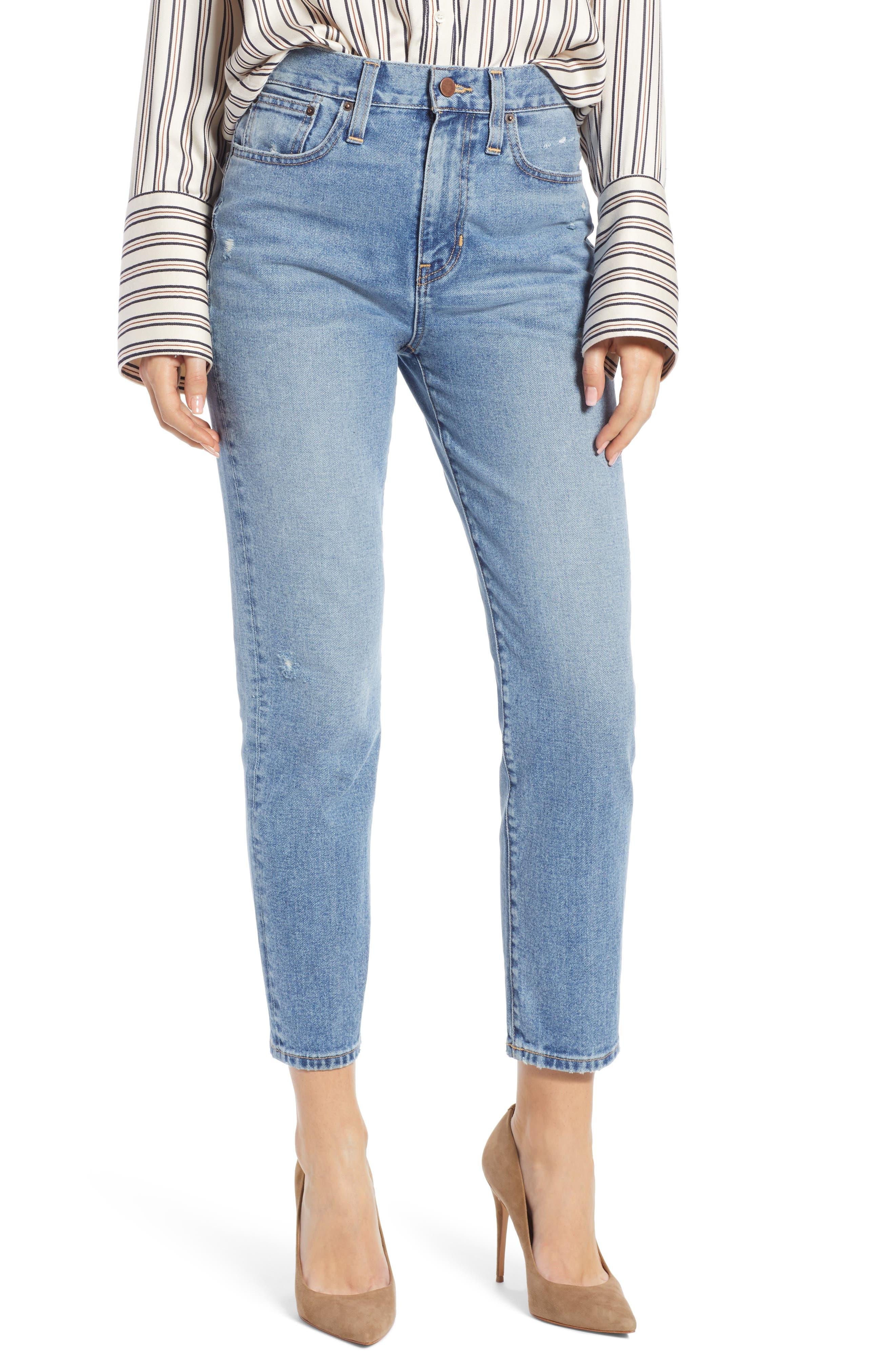 Cigarette Jeans,                         Main,                         color, LIGHT INDIGO WASH