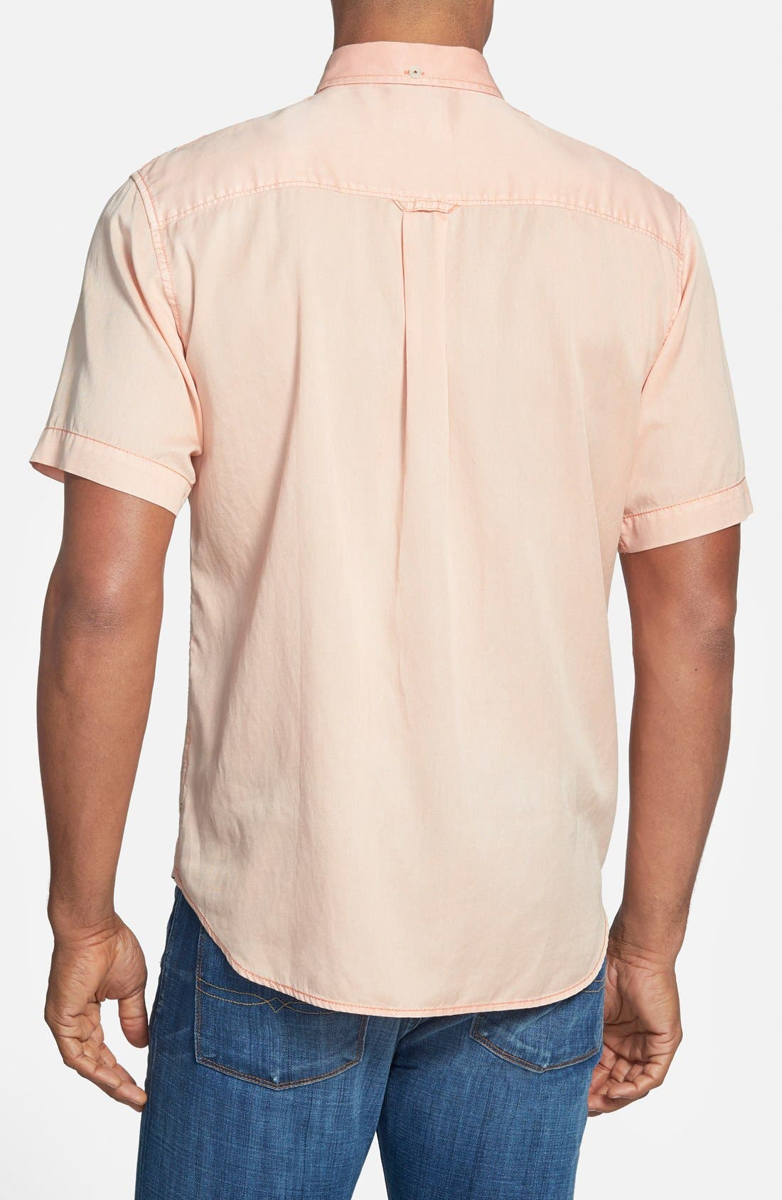 'New Twilly' Island Modern Fit Short Sleeve Twill Shirt,                             Alternate thumbnail 28, color,