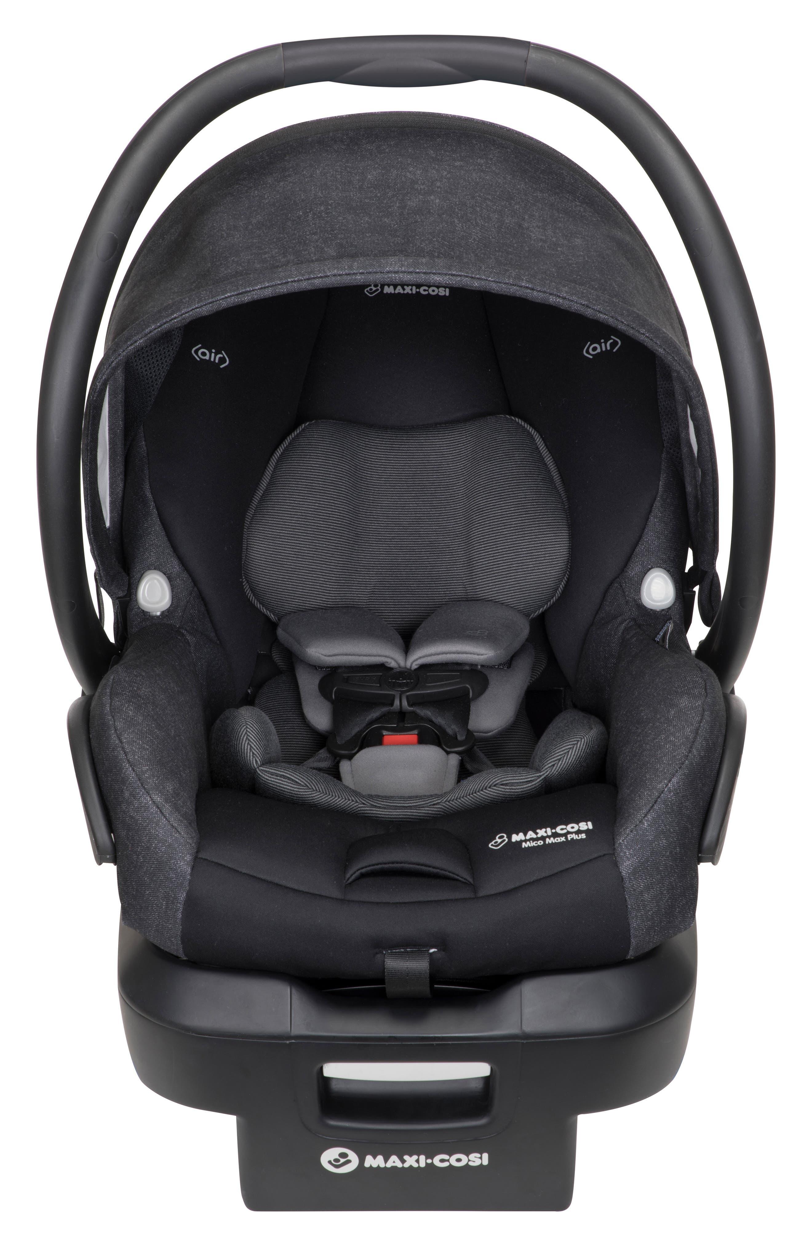 Mico Max Plus Infant Car Seat,                             Main thumbnail 1, color,                             NOMAD BLACK