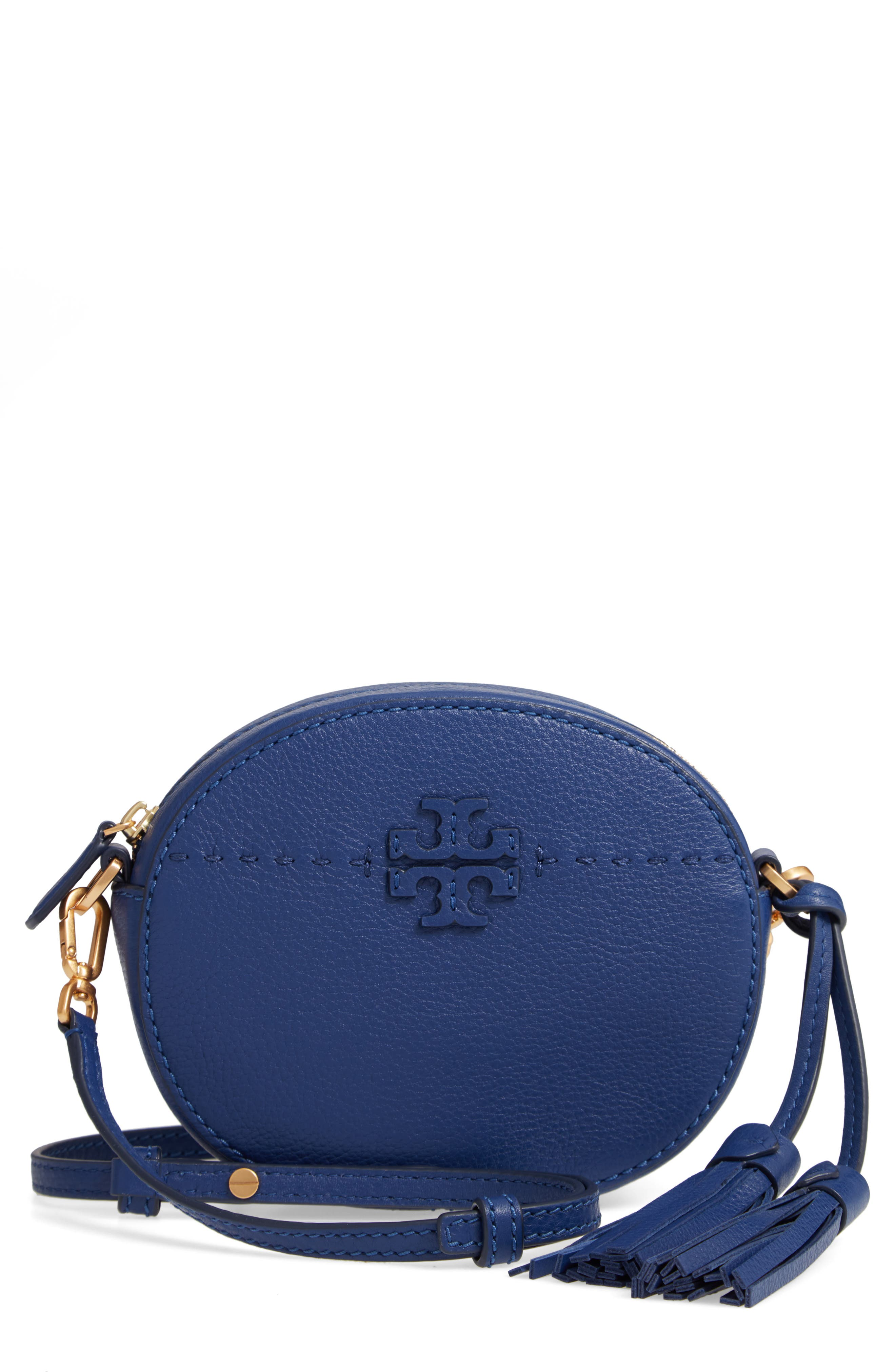 McGraw Leather Crossbody Bag,                             Main thumbnail 1, color,                             BRIGHT INDIGO