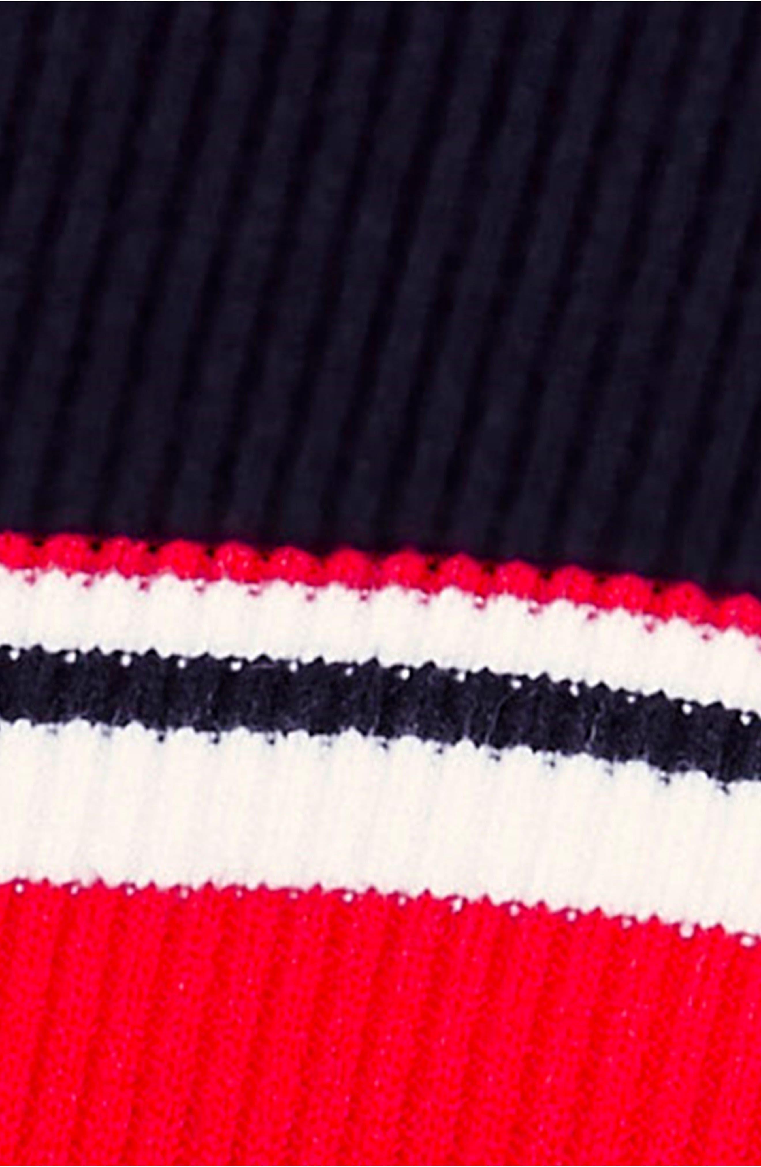 Sport Stripe Midi Sweater Dress,                             Alternate thumbnail 6, color,                             001