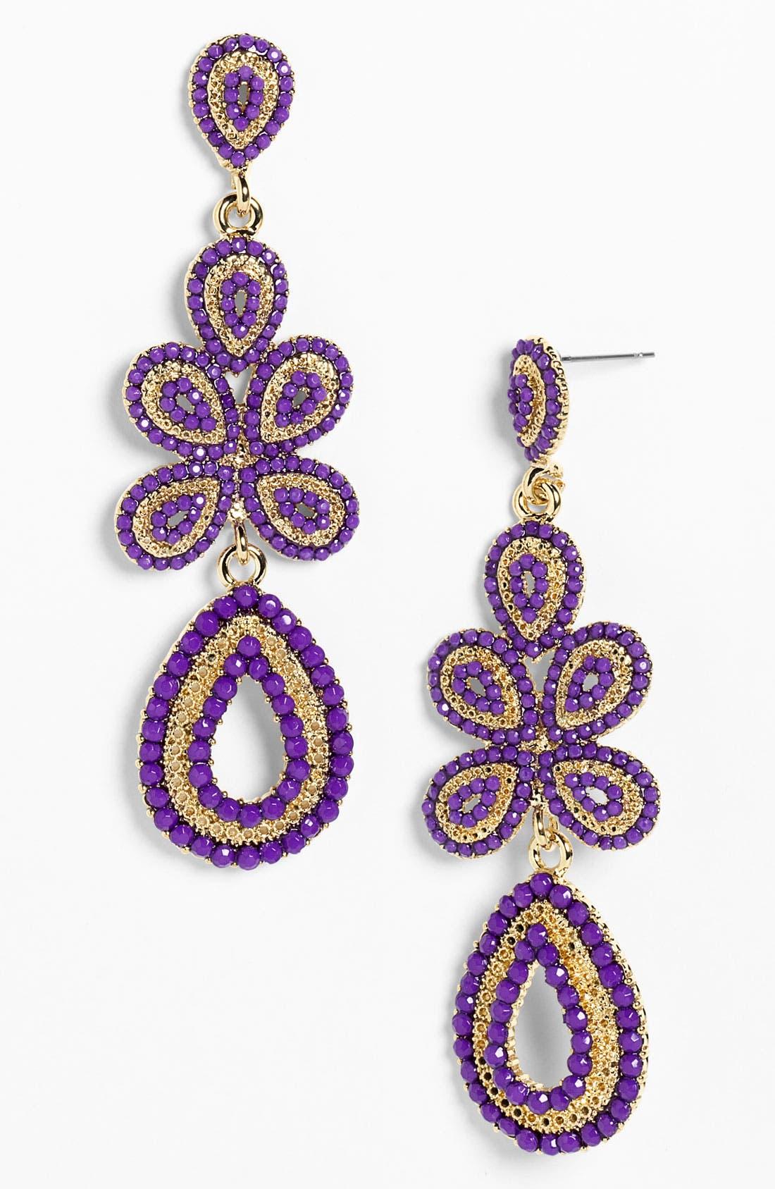 'Ornate' Linear Statement Earrings,                             Main thumbnail 11, color,