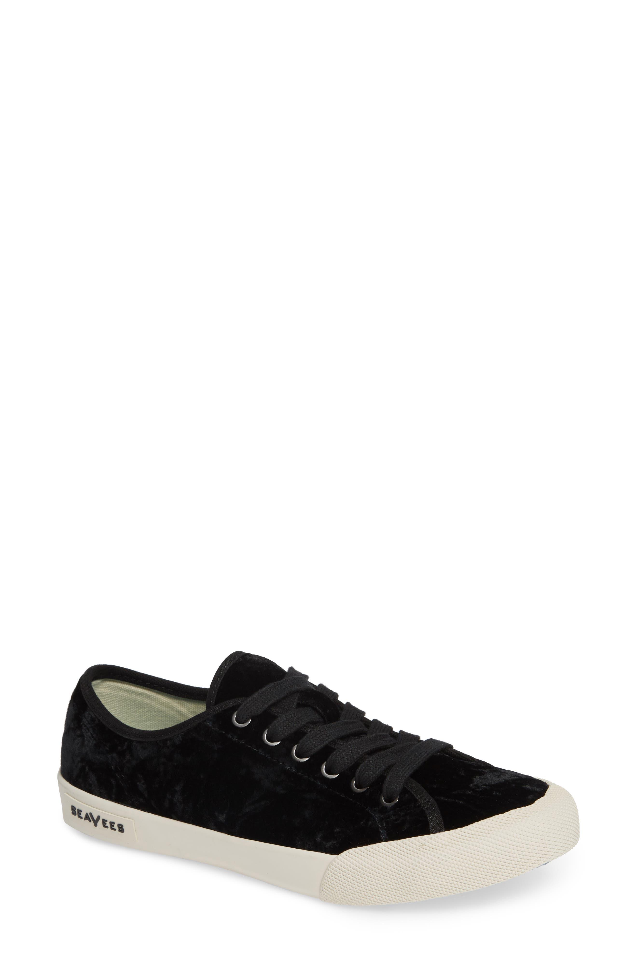 SEAVEES Monterey Crush Sneaker in Black Velvet