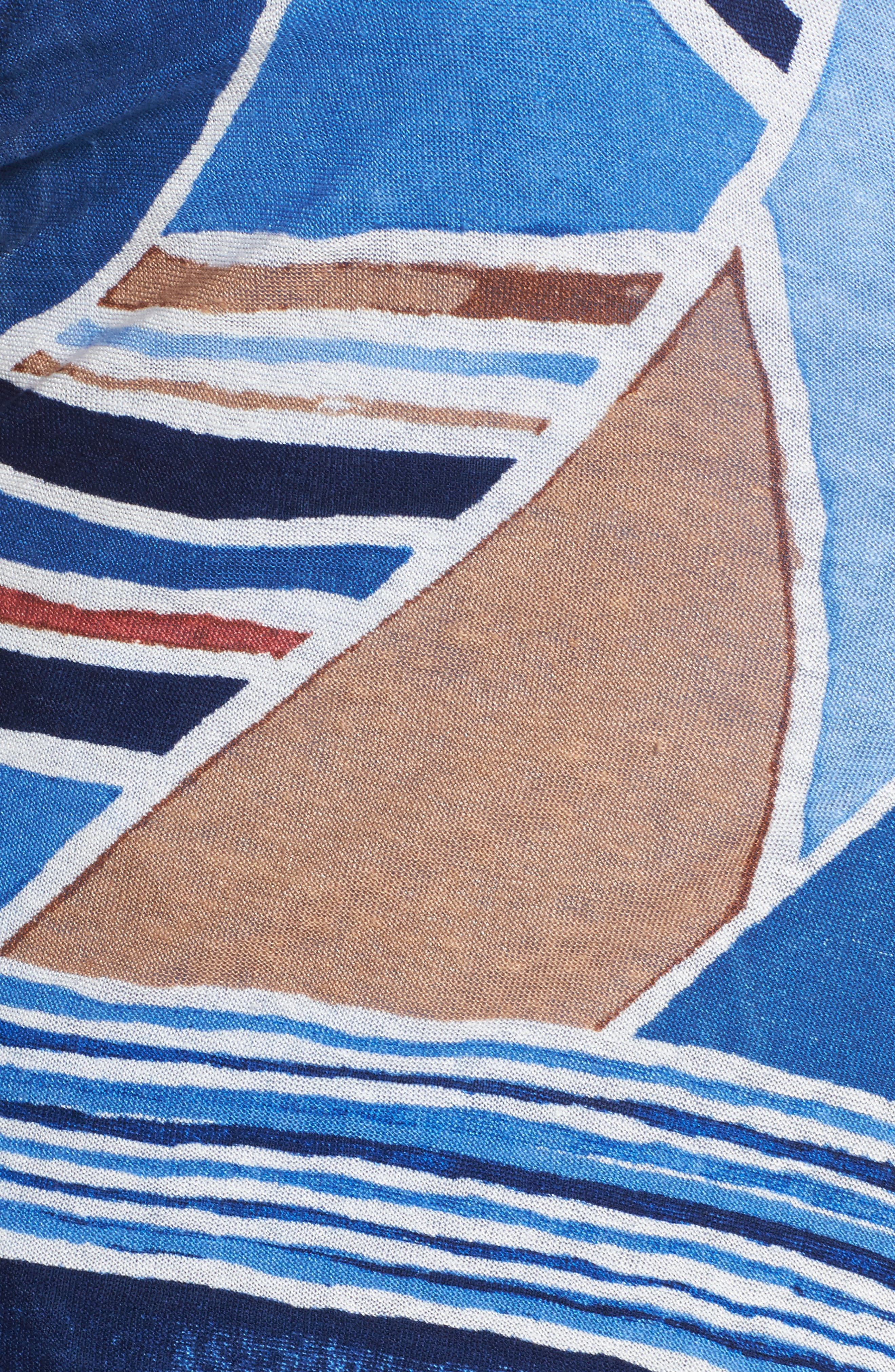 Seaglass Linen Convertible 4-Way Cardigan,                             Alternate thumbnail 5, color,                             MULTI