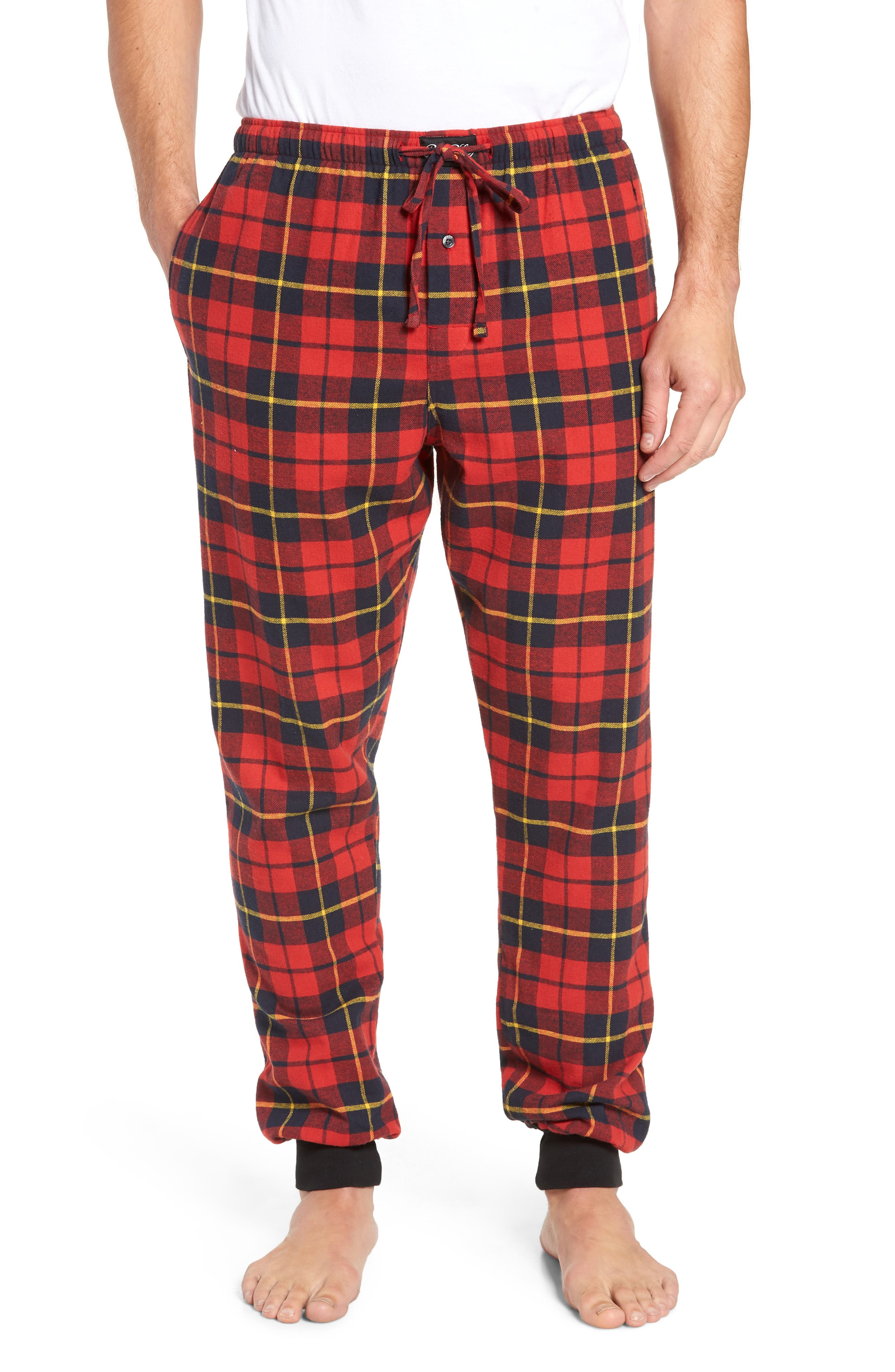 Polo Ralph Lauren Flannel Cotton Jogger Pajama Pants, Red