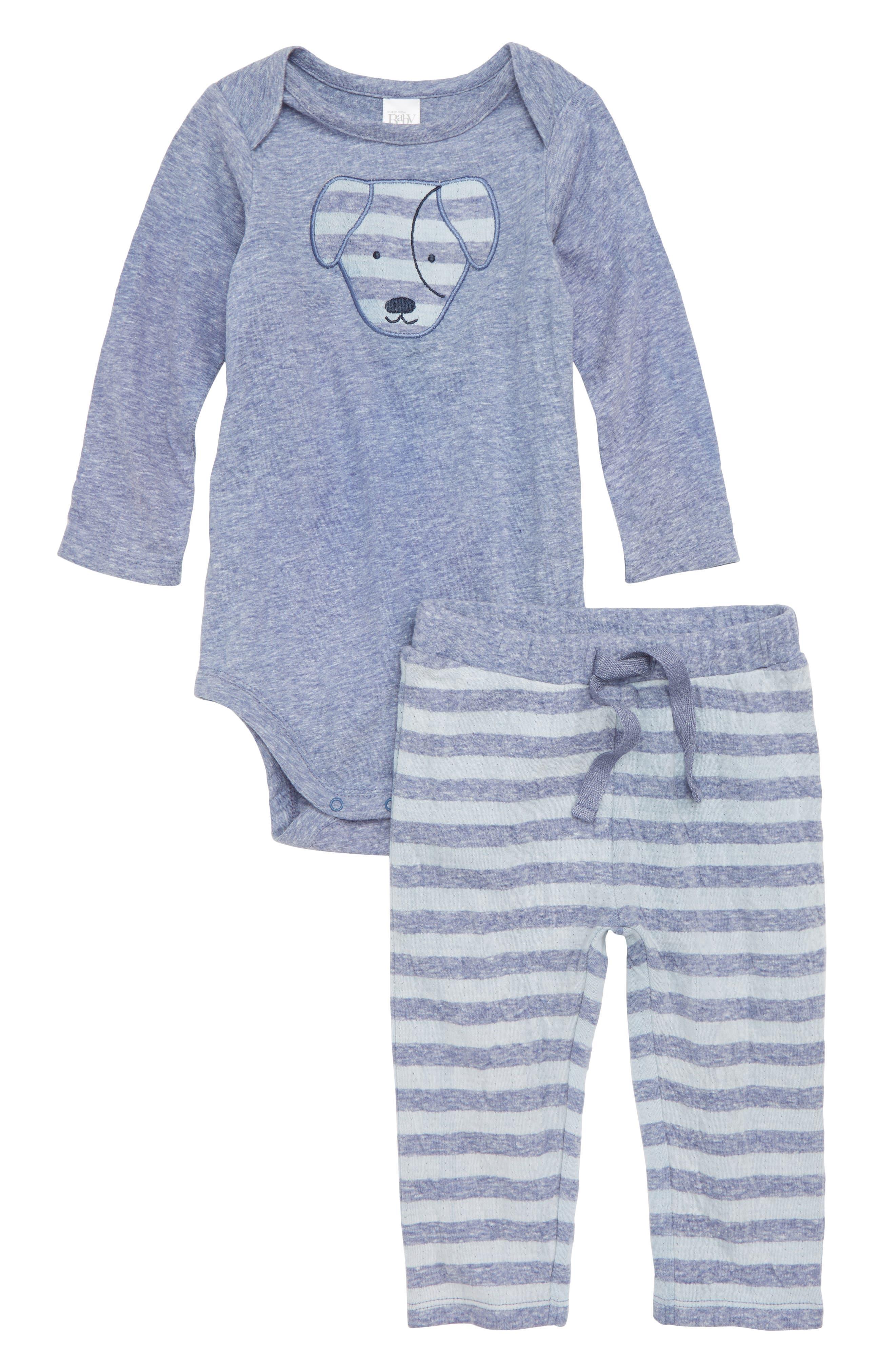 Dog Bodysuit & Pants Set,                             Main thumbnail 1, color,                             410