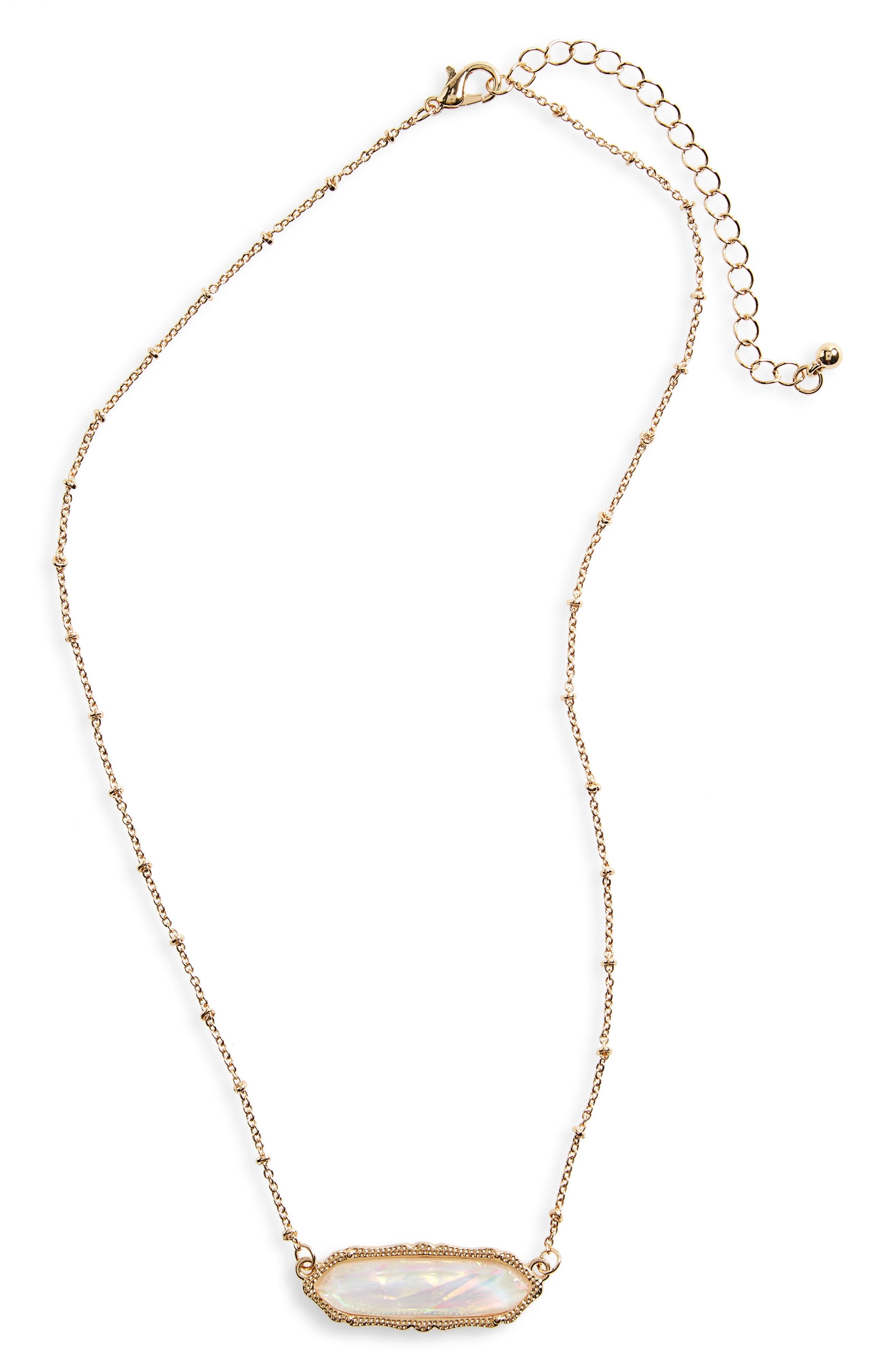 Stone Charm Necklace,                             Main thumbnail 3, color,