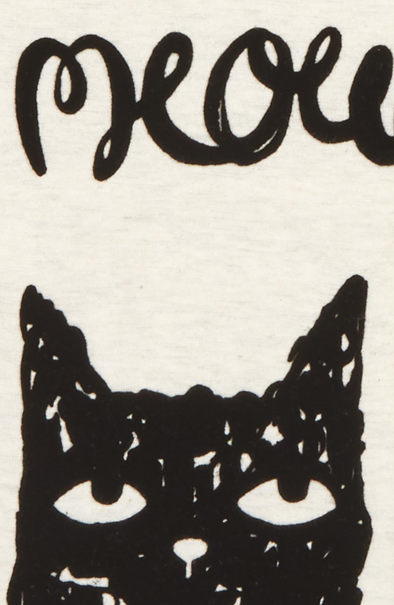 Mini Meow Graphic Tee,                             Alternate thumbnail 2, color,                             103